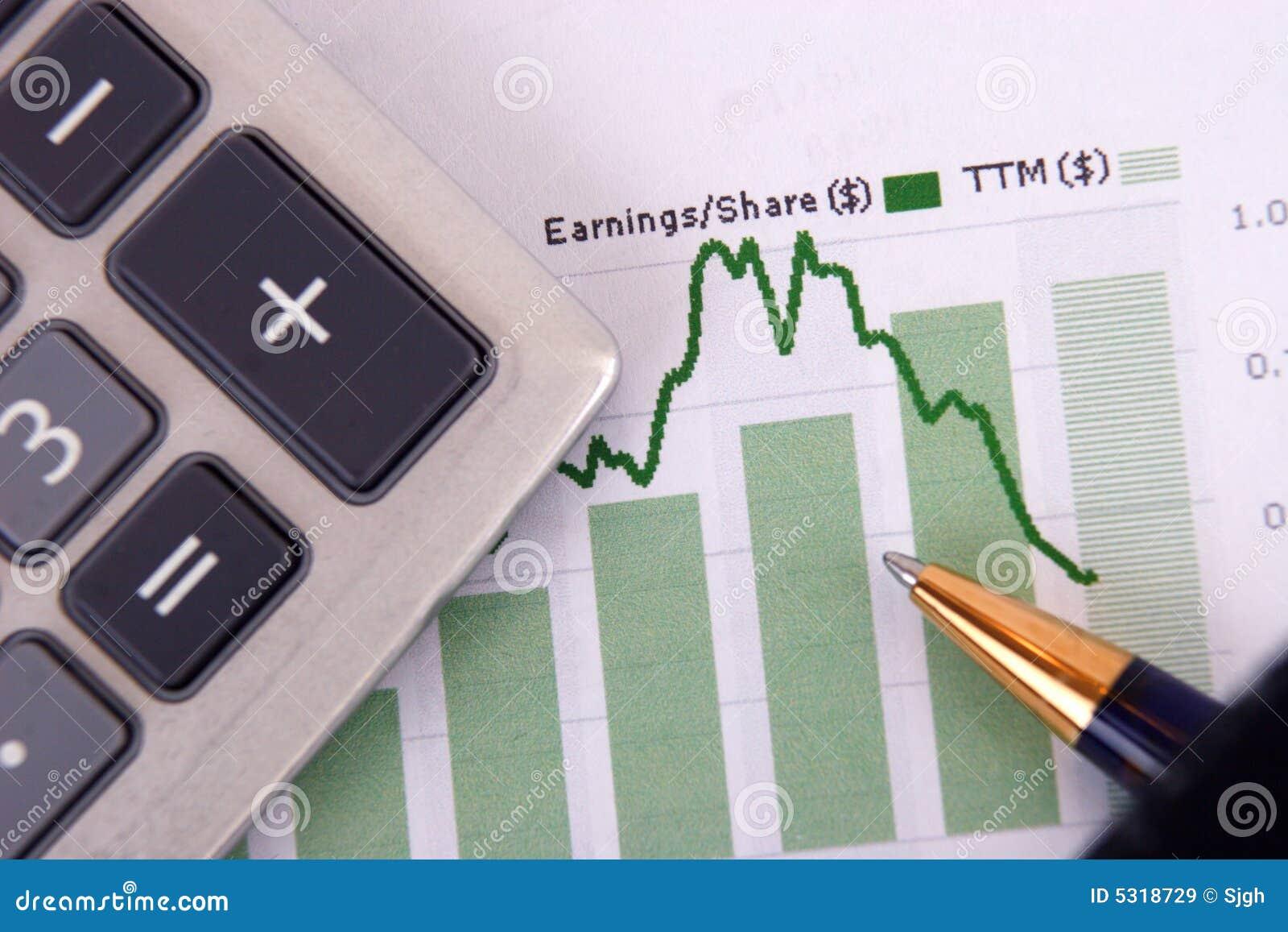 Download Calcolatore sul grafico immagine stock. Immagine di risparmio - 5318729
