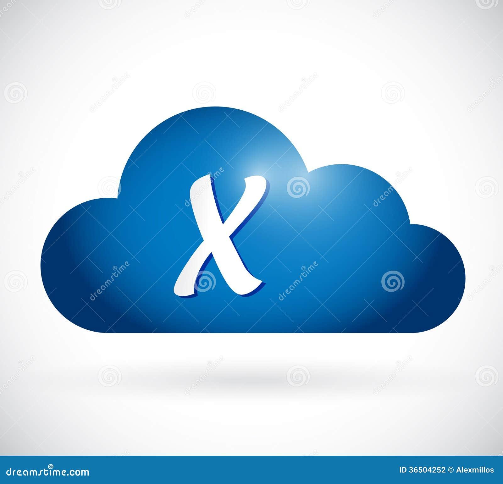 Calcul de nuage et conception d illustration de marque de x