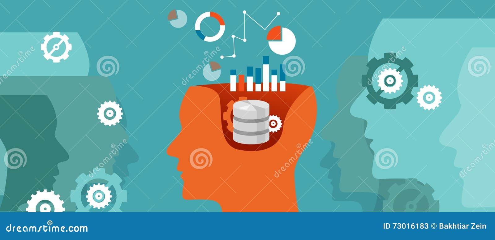 Calcul de pensée de graphique de la science de base de données de scientifique de données