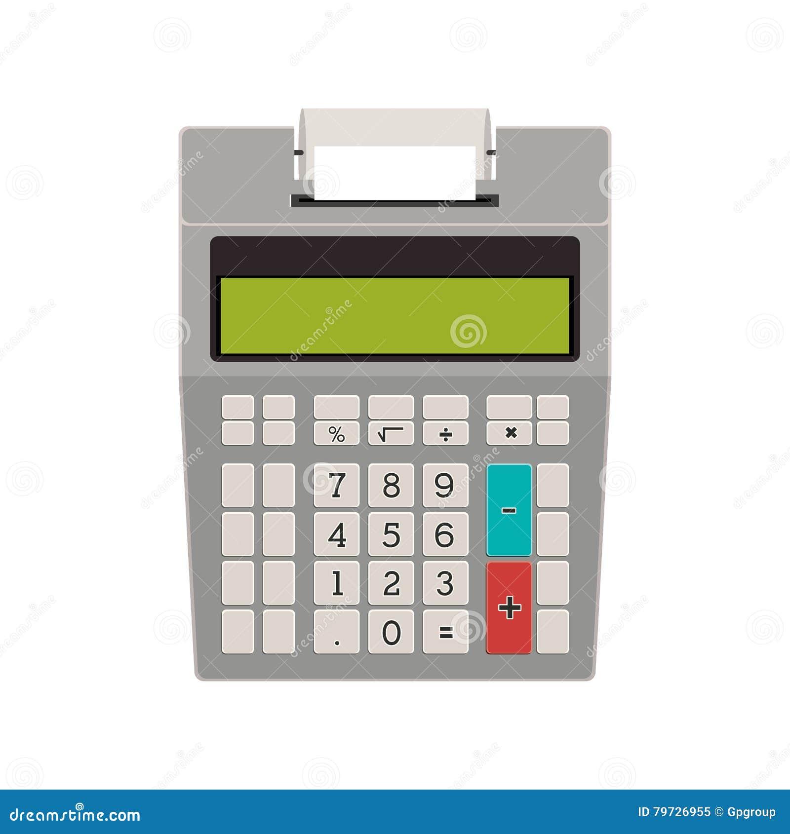 Calculadora de la tecnología sin la impresión de papel