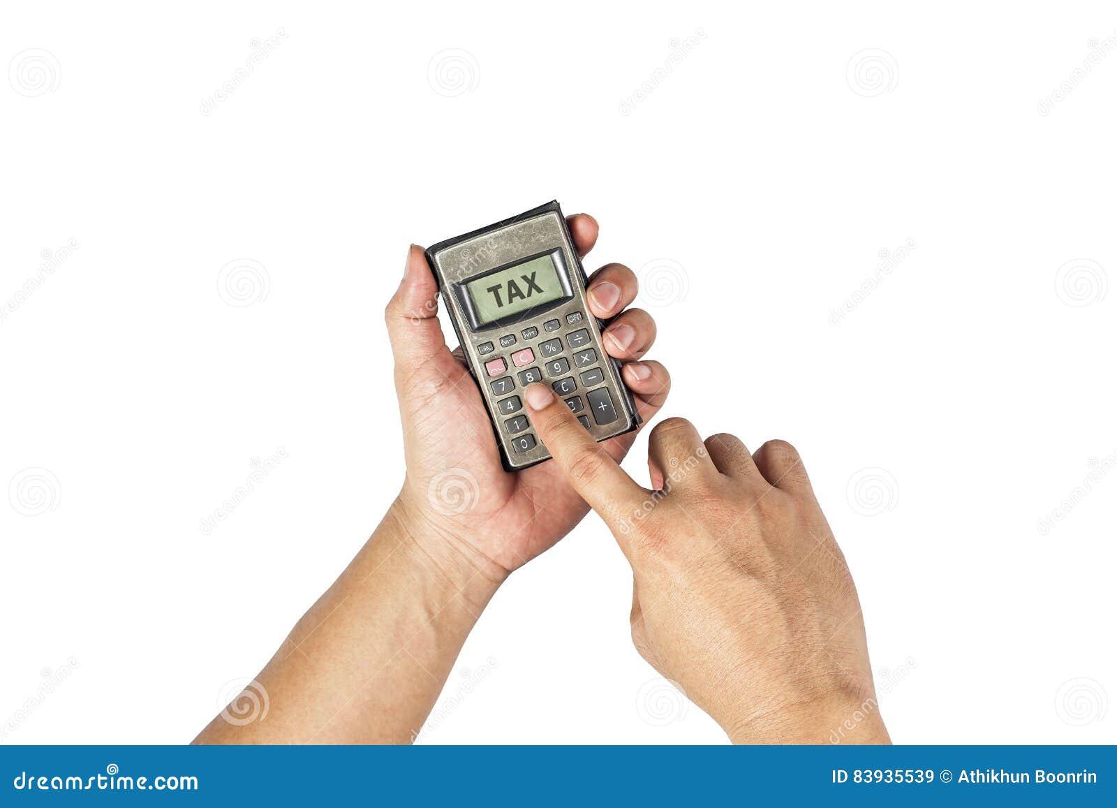 Calculadora vieja a disposición Conceptual del dinero y del negocio