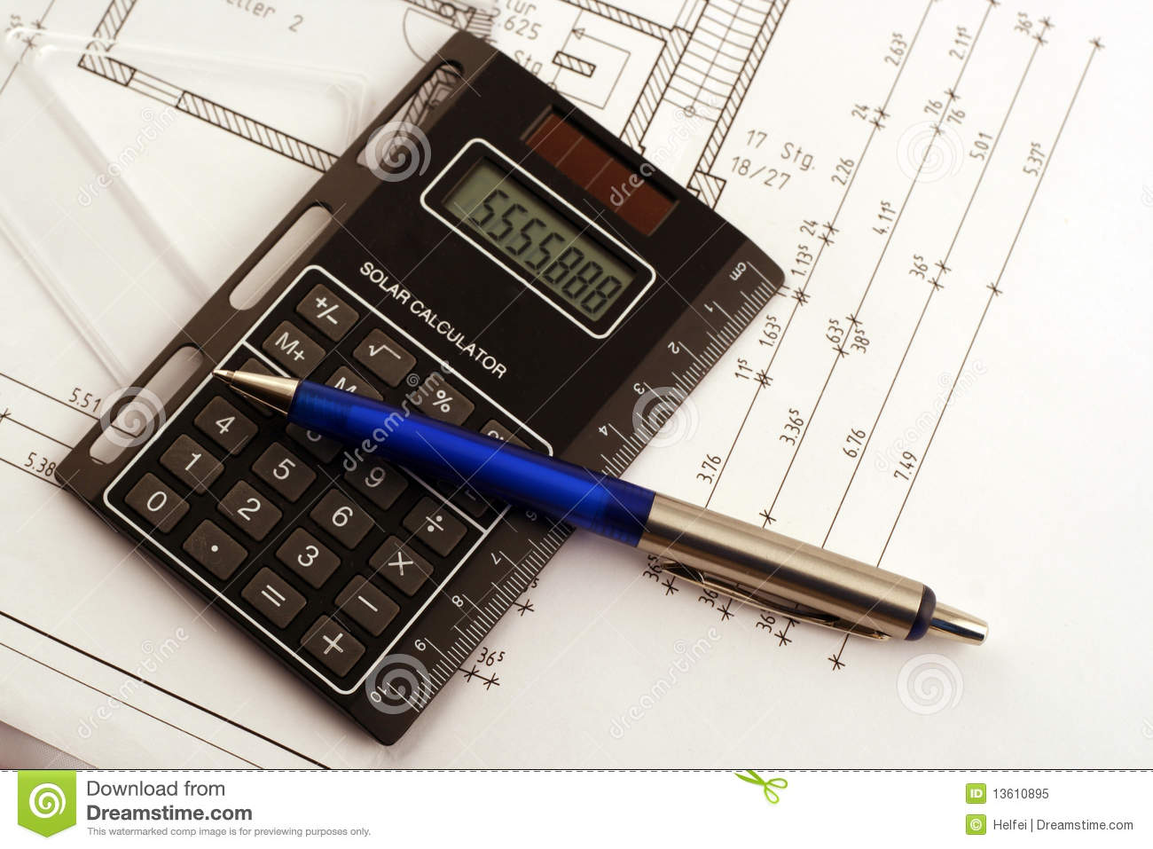 Calculate Royalty Free Stock Photo Image 13610895