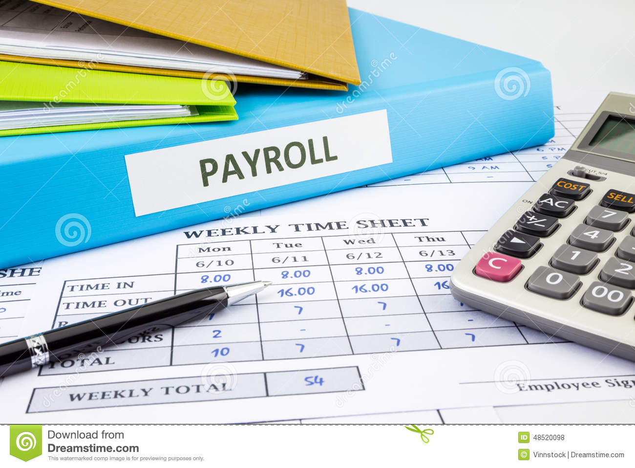Calculate Payroll For Employee Stock Photo Image of calculate