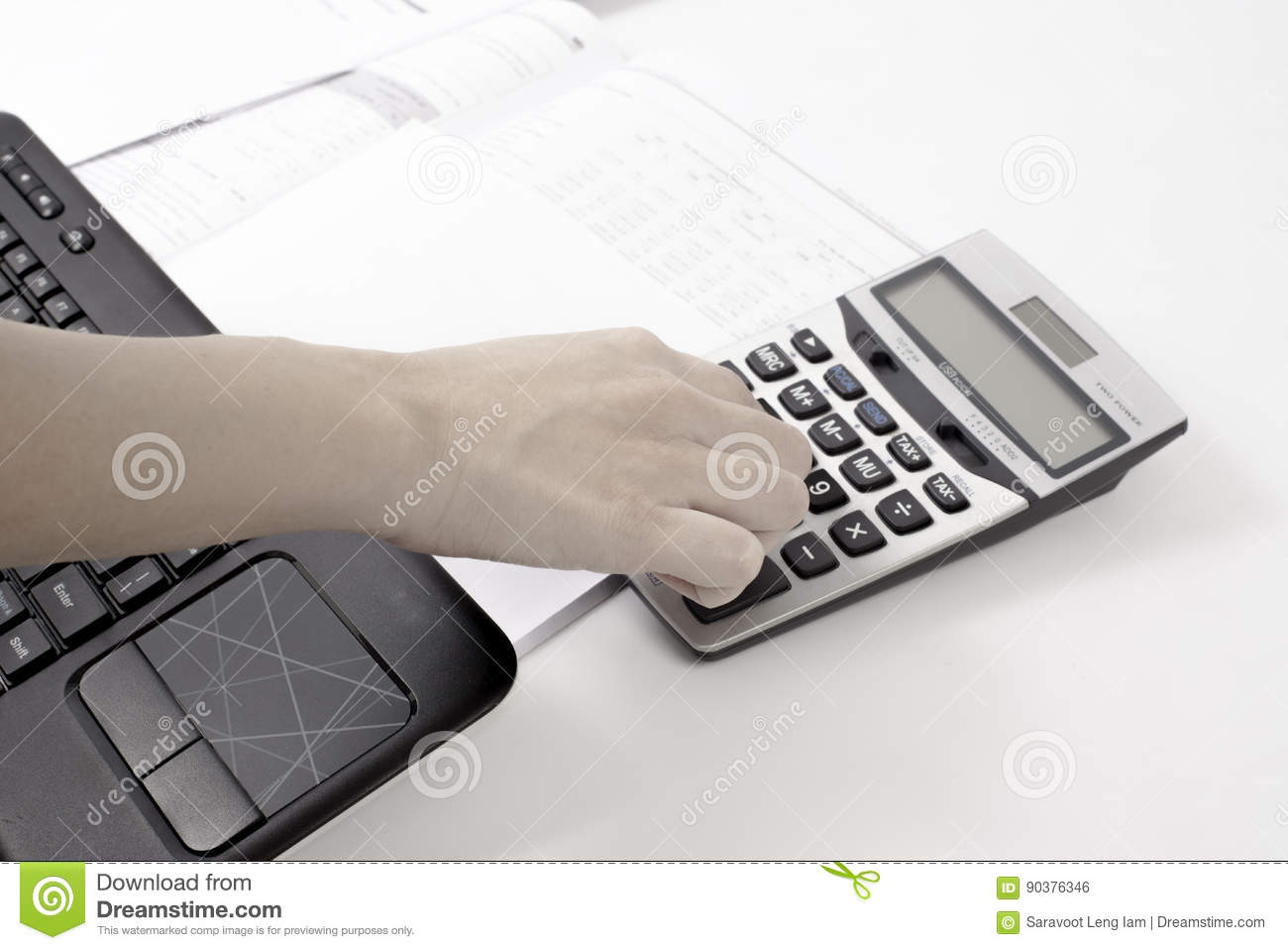 Calculating for a business account