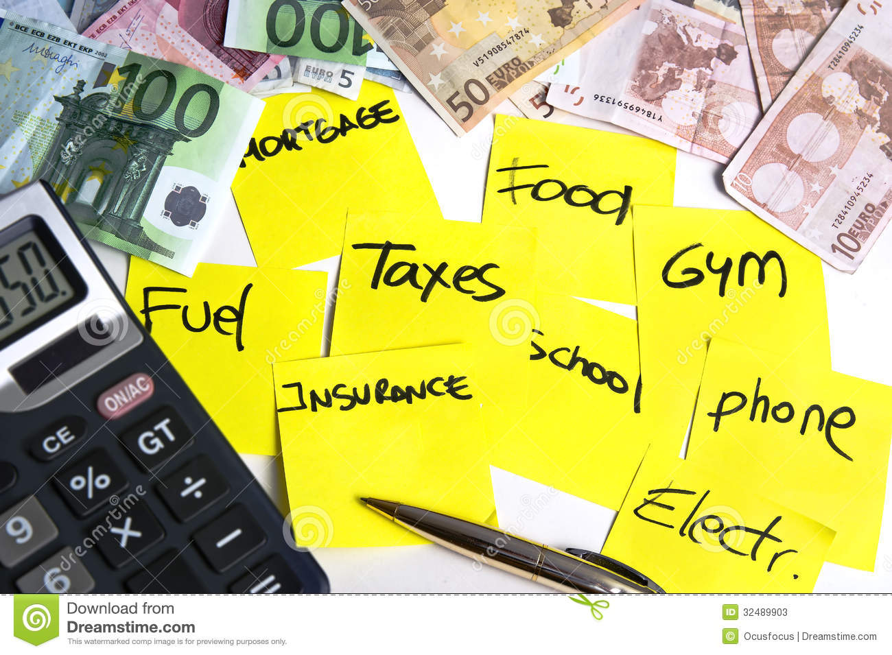 Calculating Costs Stock Photos Image 32489903