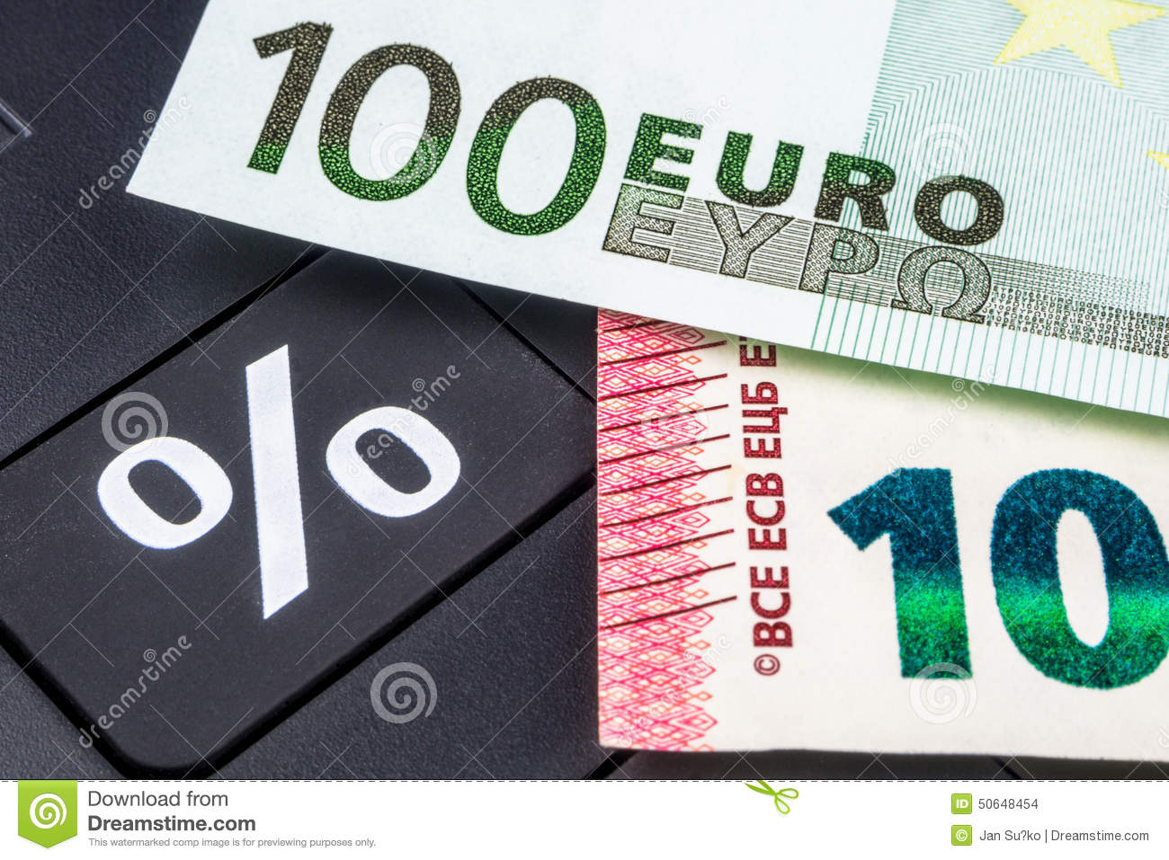 calculating mortgage interest rate stock photo image of cash