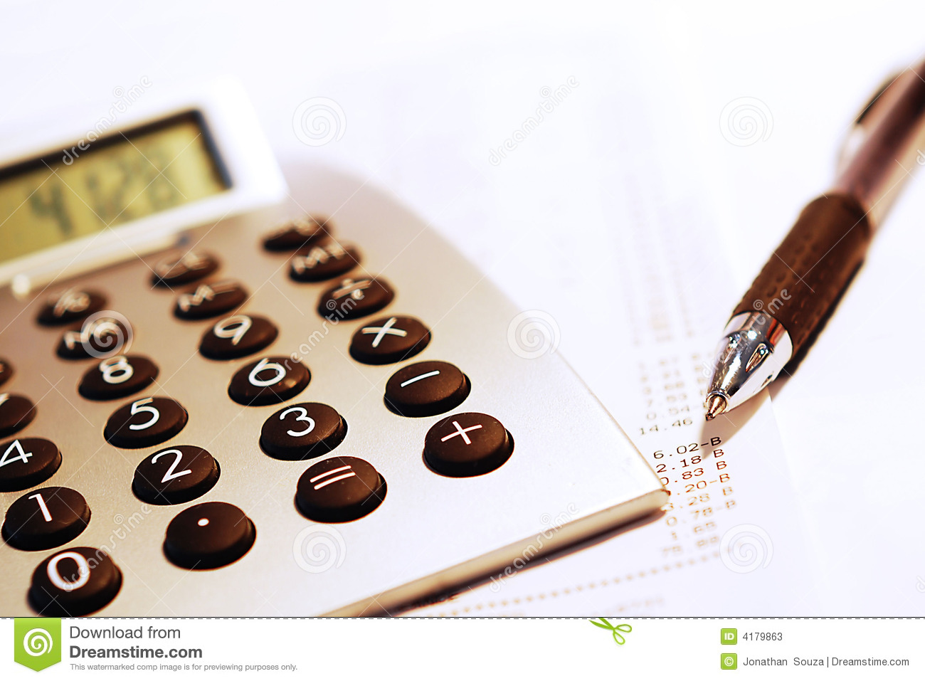 Calculating numbers.