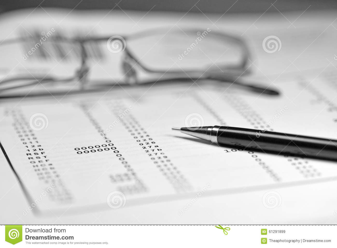 Calculation Stock Photo - Image: 61291899