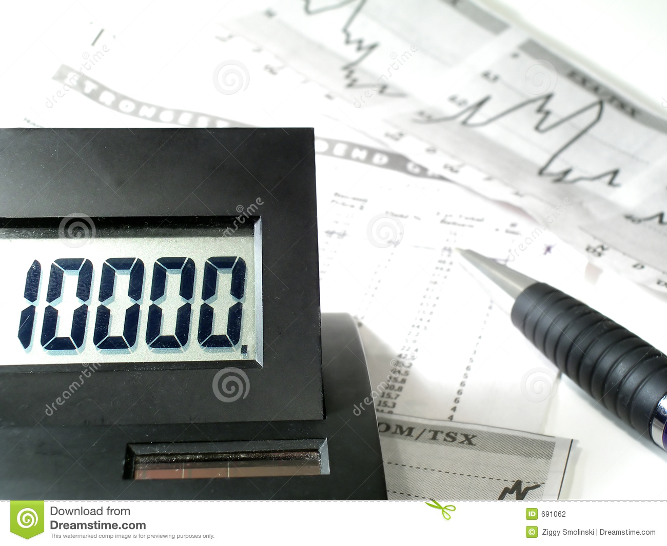 calculation of profit and loss stock photo