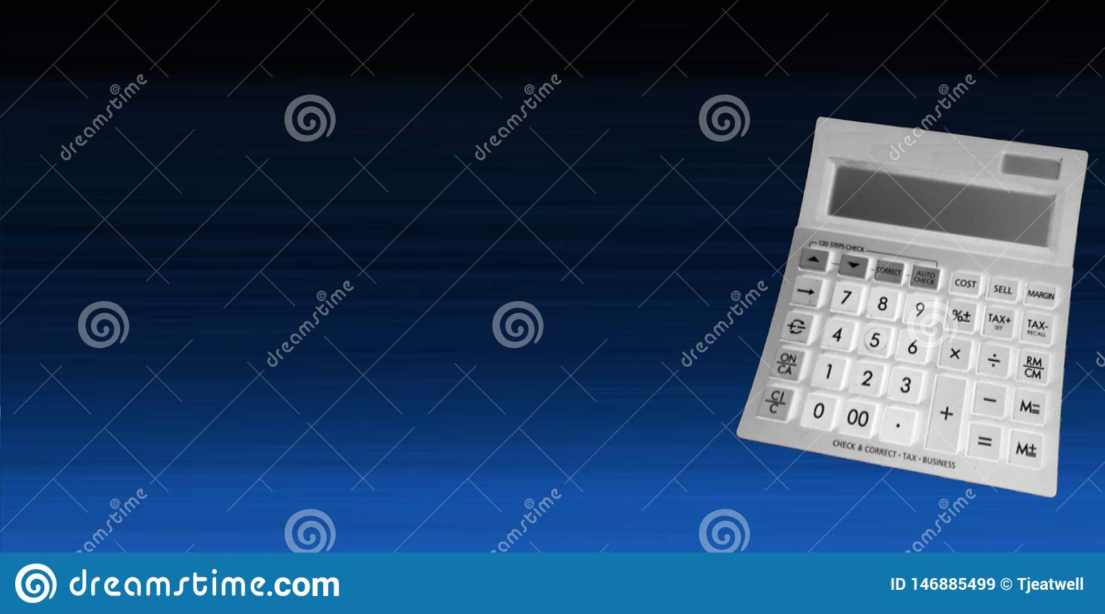 Calculator on a Blue Background