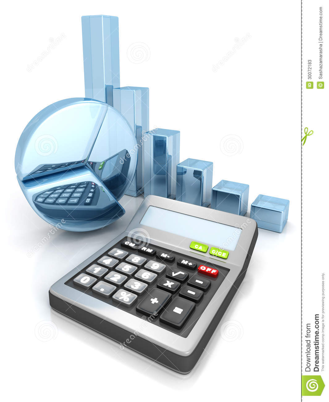 calculator with business pie and bar sucess chart graph stock image image of data building. Black Bedroom Furniture Sets. Home Design Ideas