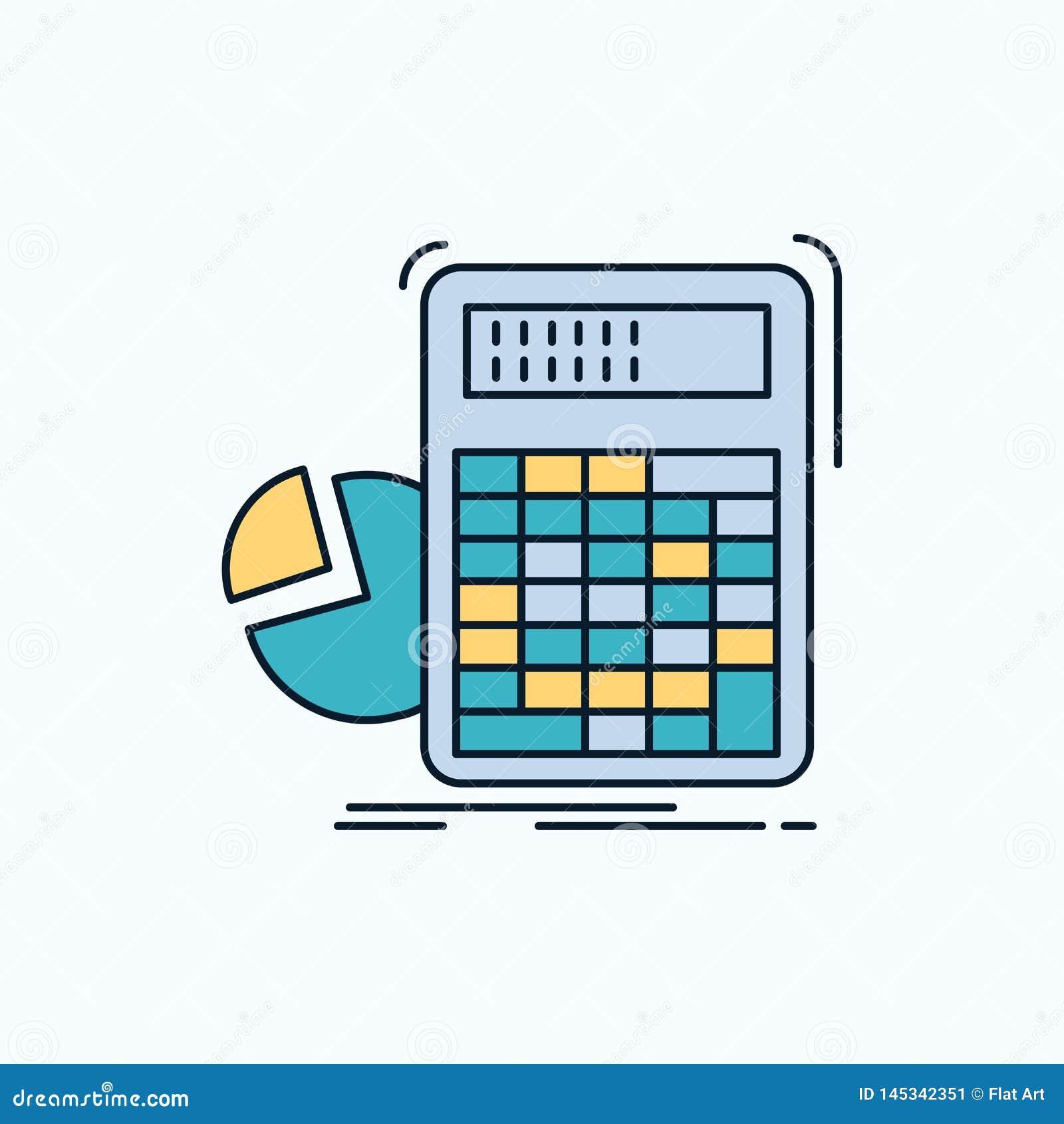 Calculator, Calculation, Math, Progress, Graph Flat Icon