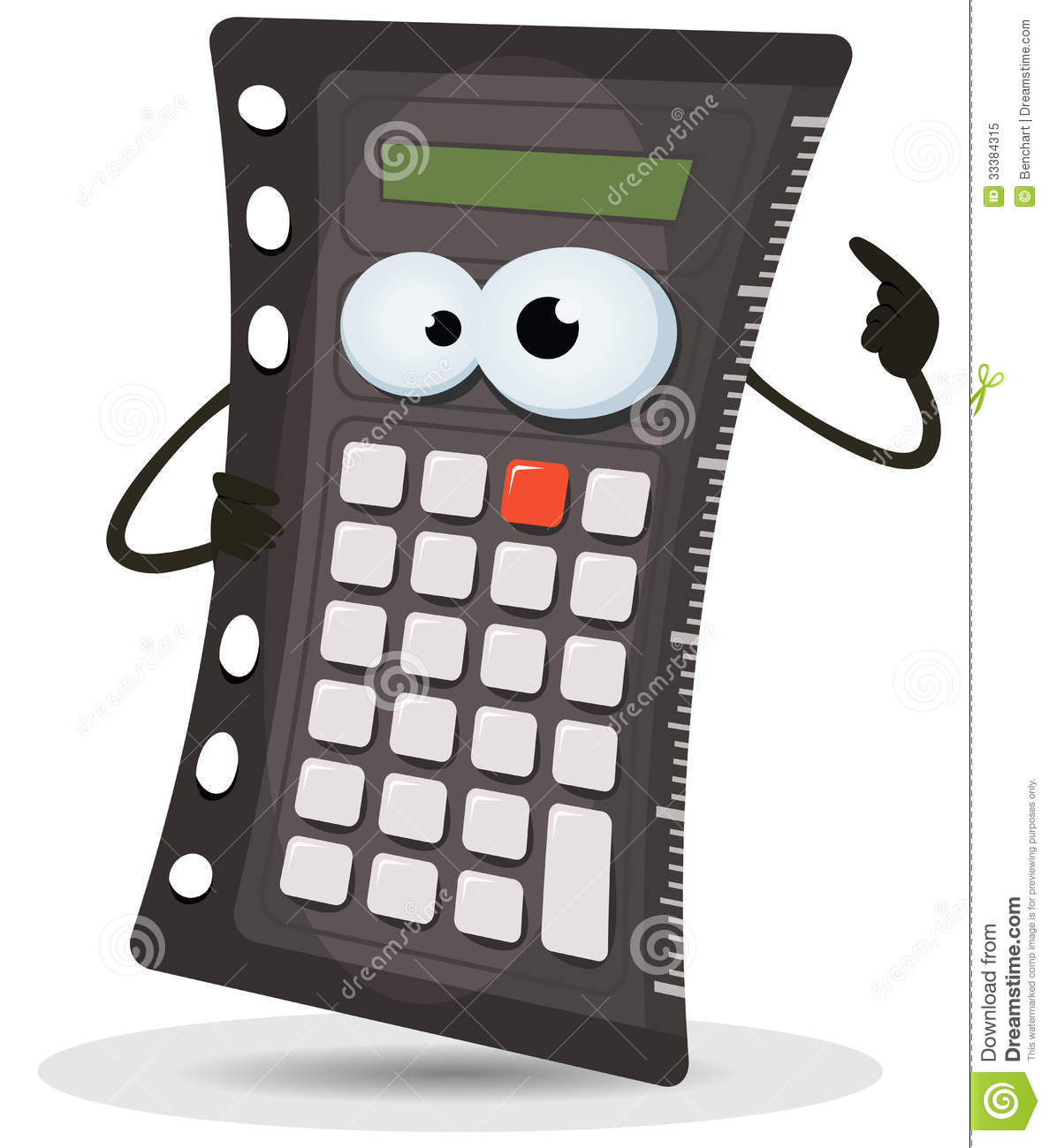 Calculator Character stock vector. Illustration of ...