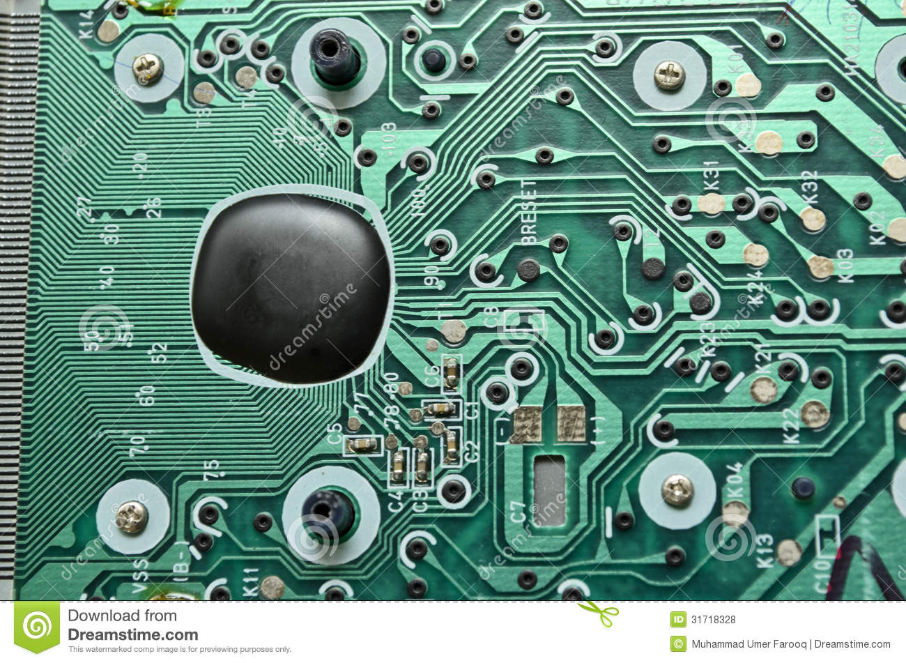 Electronic Chip Stock Photo  Image Of Connection