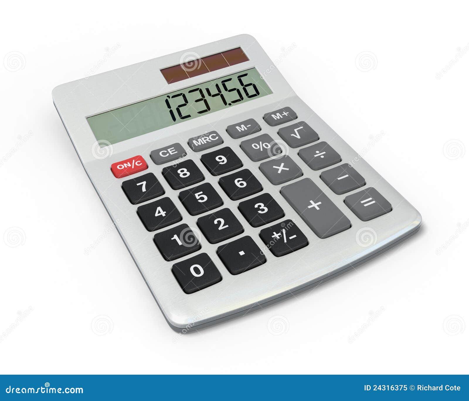 Calculator, close-upmening