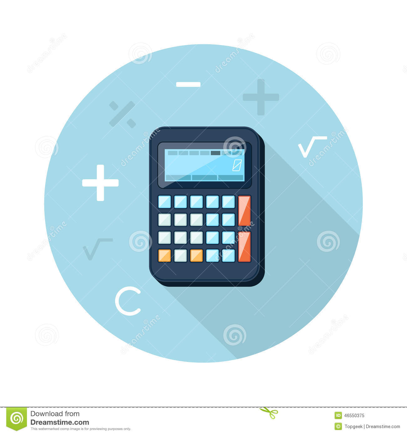 Calculator flat concept icon vector illustration stock vector calculator flat concept icon vector illustration royalty free stock photo buycottarizona