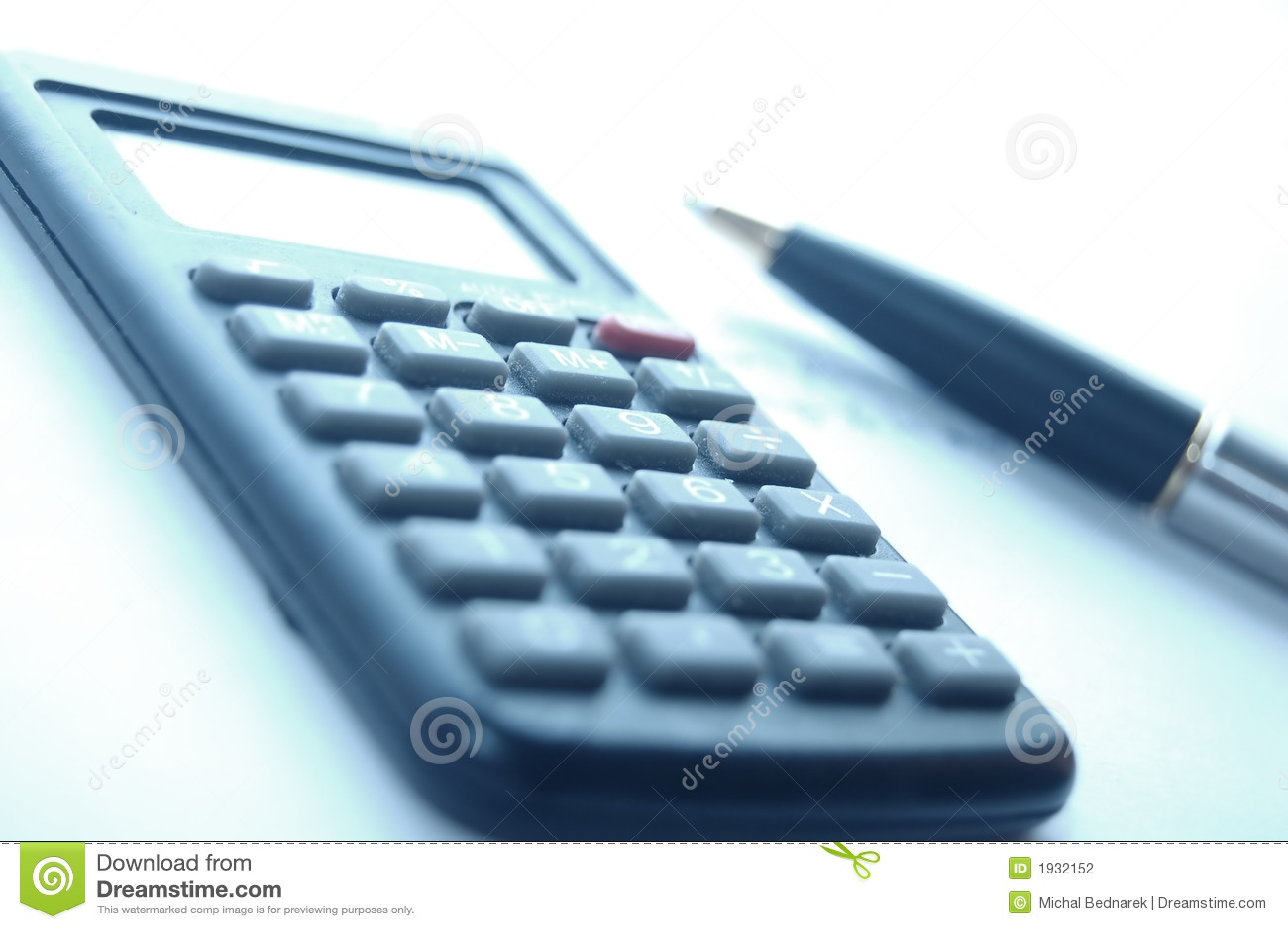 Calculator Fountain Pen Stock Photography Image 1932152
