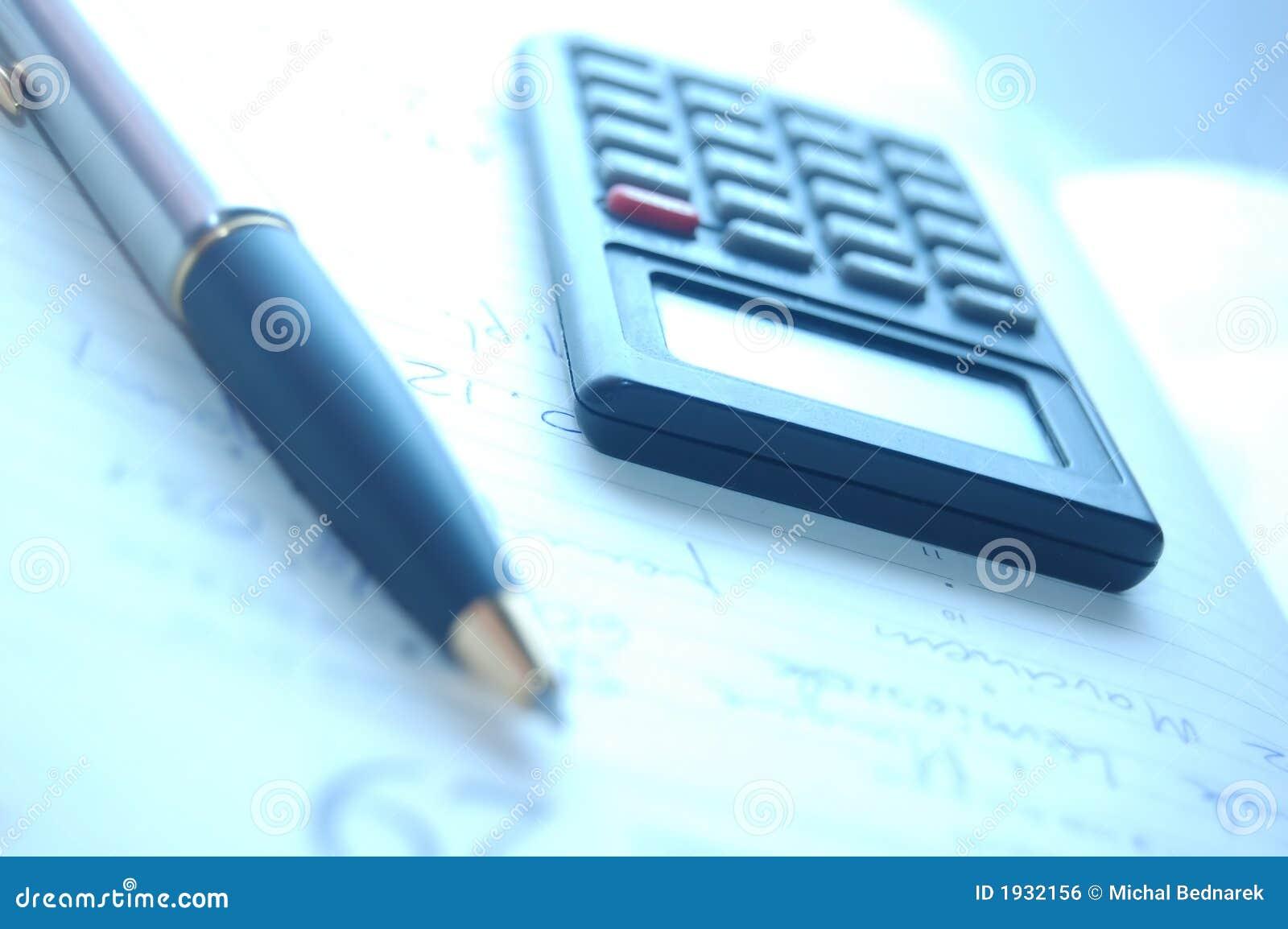 Calculator Fountain Pen Royalty Free Stock Image Image