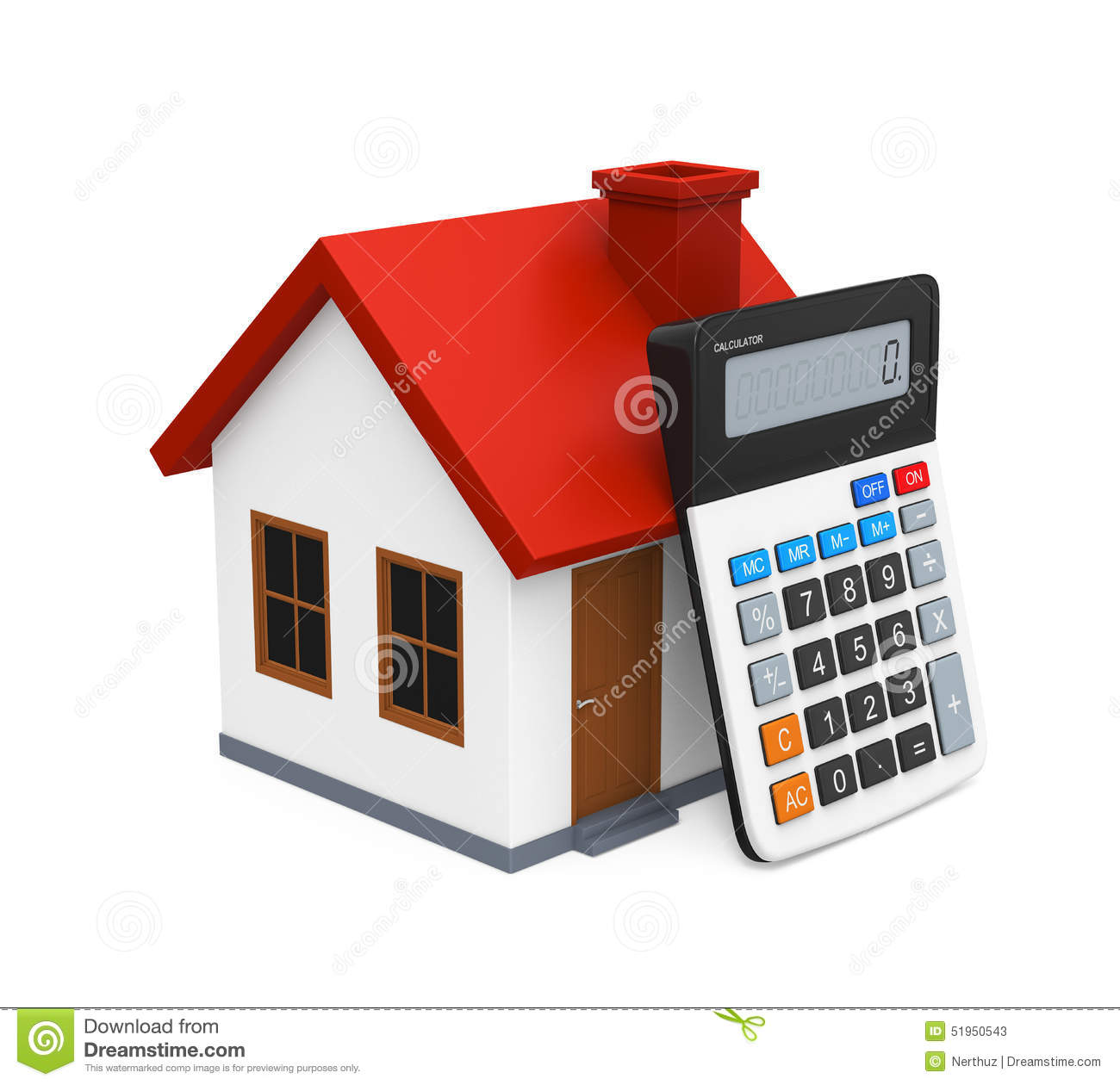 Calculator And House Icon Stock Illustration Image 51950543