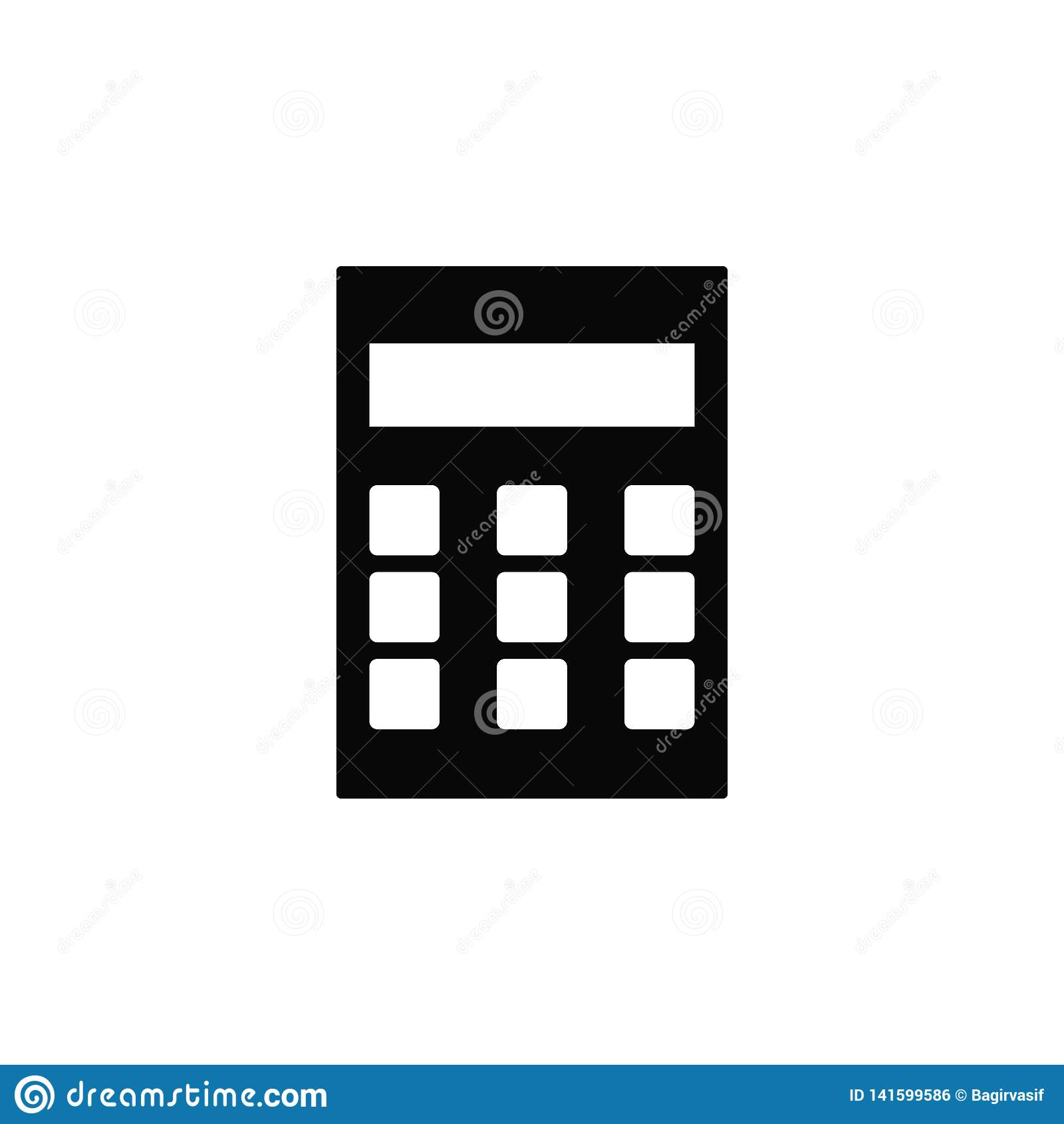 Calculator, icon. Element of simple icon for websites, web design, mobile app, infographics. Thick line icon for website design