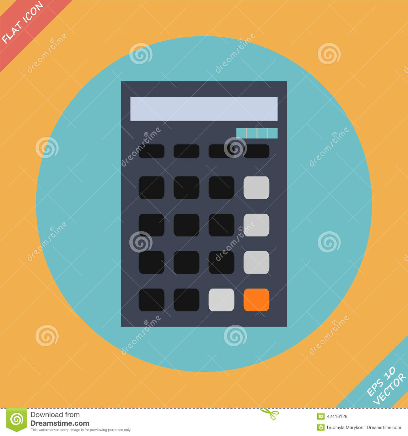 calculator icon vector illustration flat design stock vector image 42416126. Black Bedroom Furniture Sets. Home Design Ideas