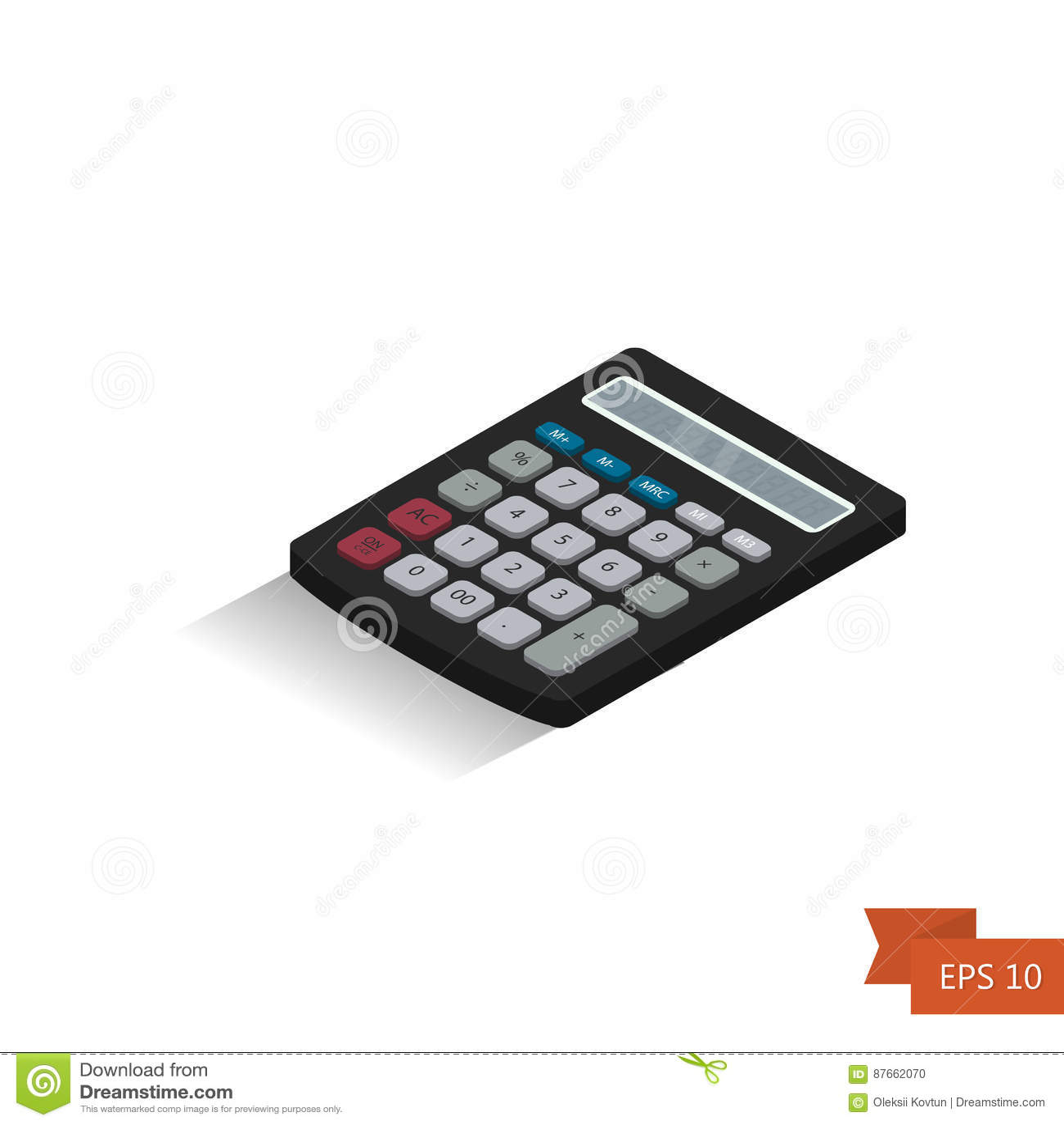 Calculator  Isometric Icon  Vector Illustration Isometric 3d