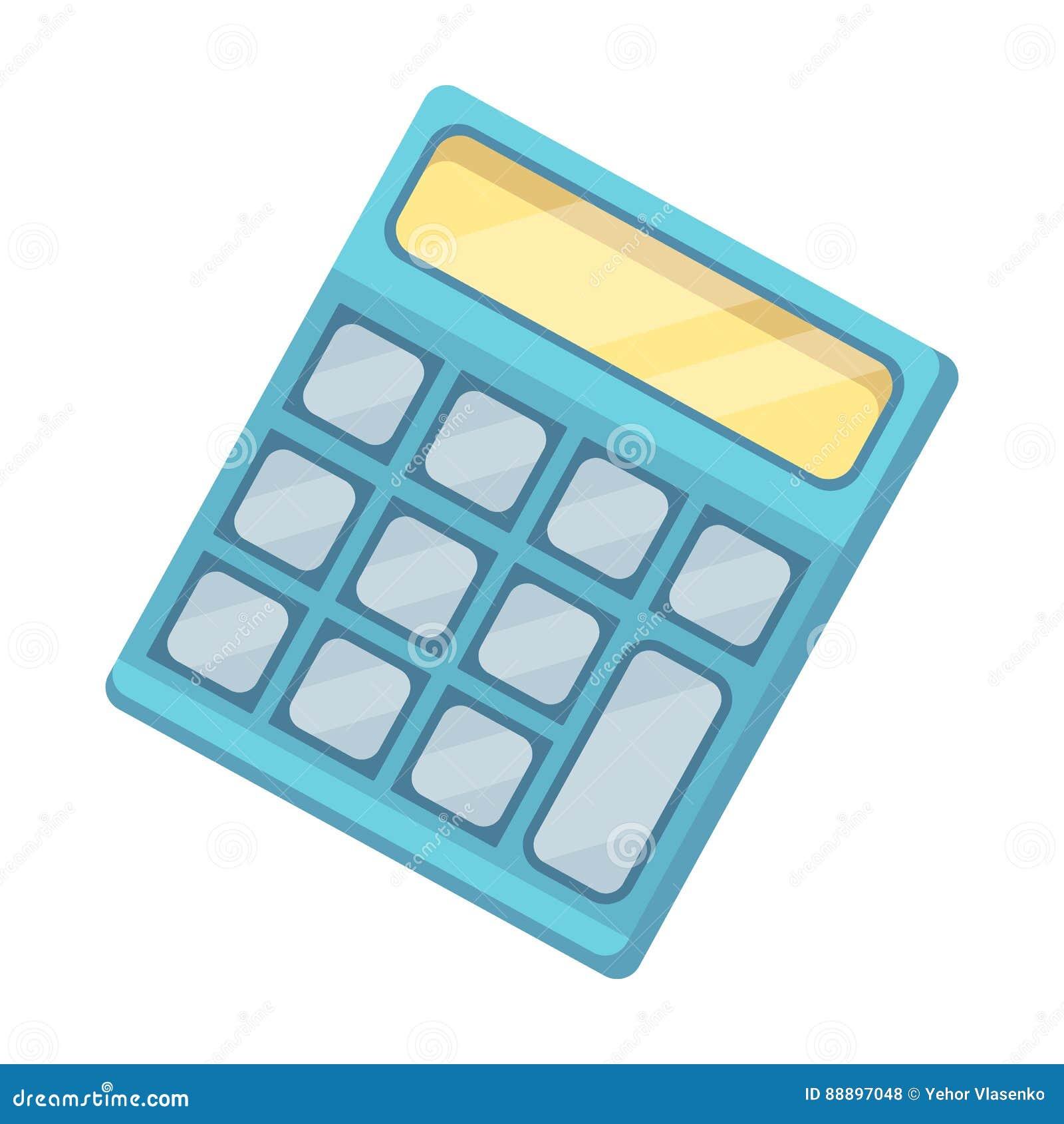 Calculator Machine gegevens snel om te tellen math School en Onderwijs enig pictogram in vector het symboolvoorraad van de beeldv