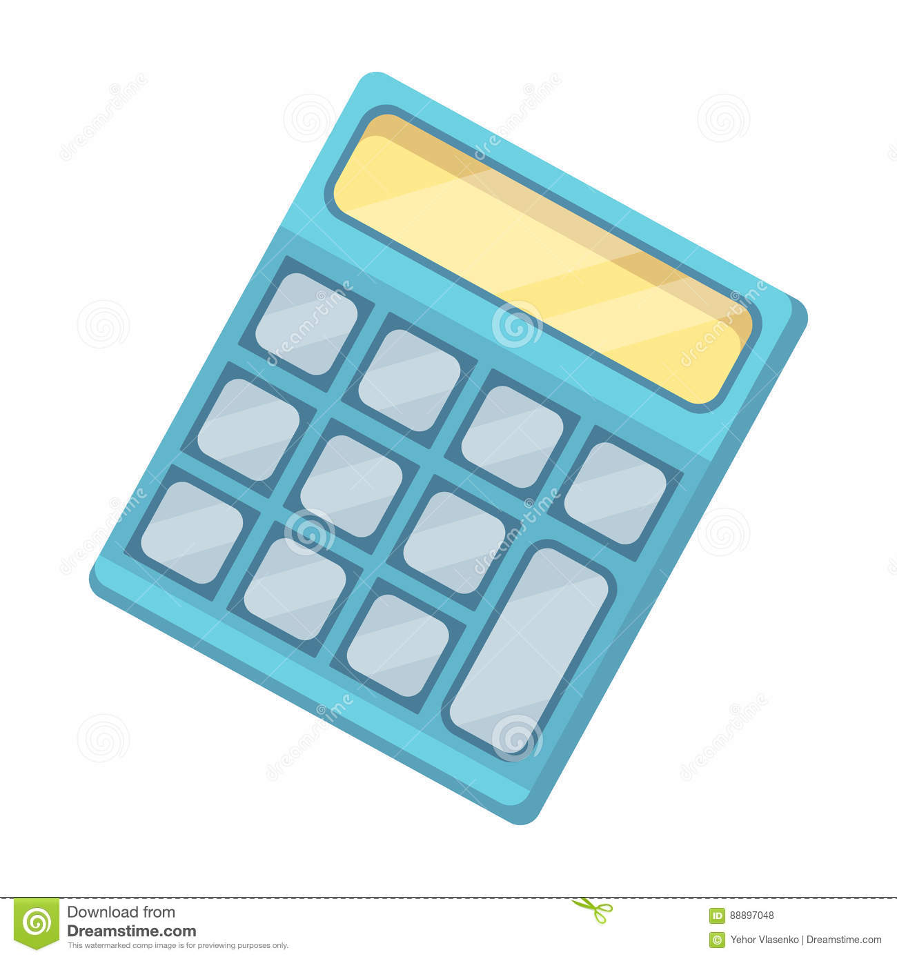 Calculator. Machine to quickly count data. Math .School And Education single icon in cartoon style vector symbol stock