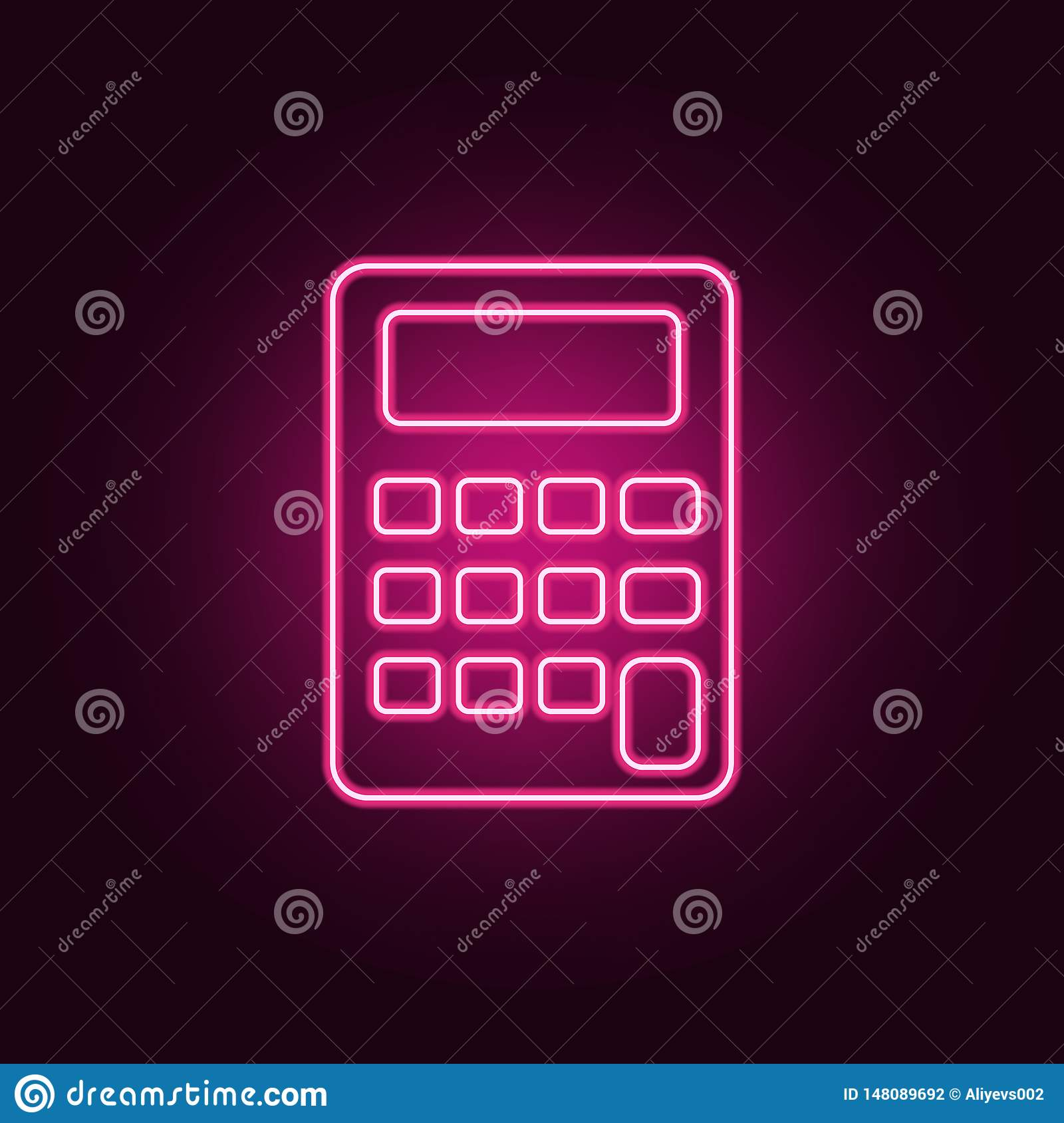 Calculator Neon Icon Elements Of Measure Set Simple Icon For Websites Web Design Mobile App Info Graphics Stock Illustration Illustration Of Symbol Calculate 148089692