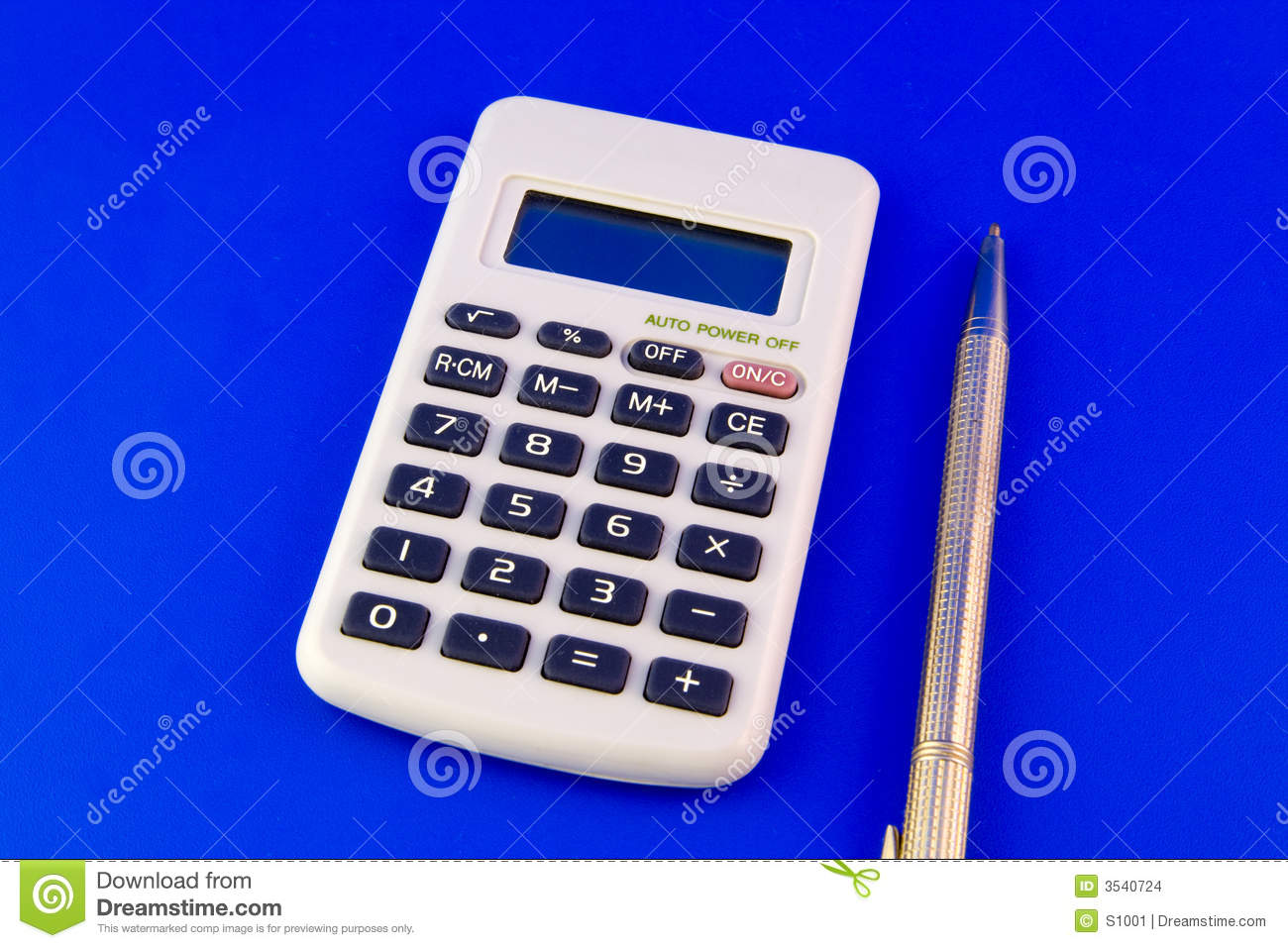 Calculator And Pen Stock Images Image 3540724