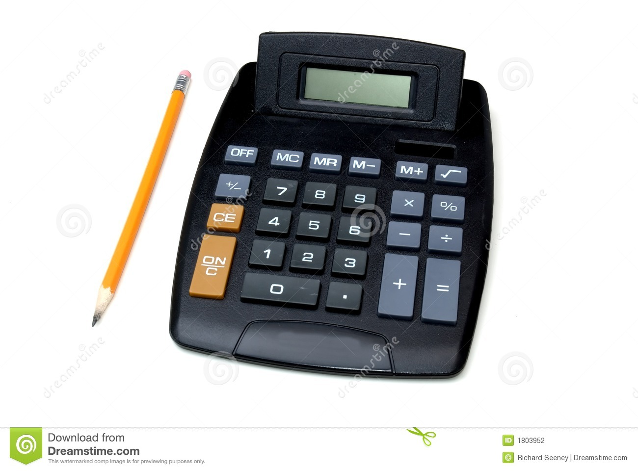 Calculator And Pencil Stock Photography - Image: 1803952