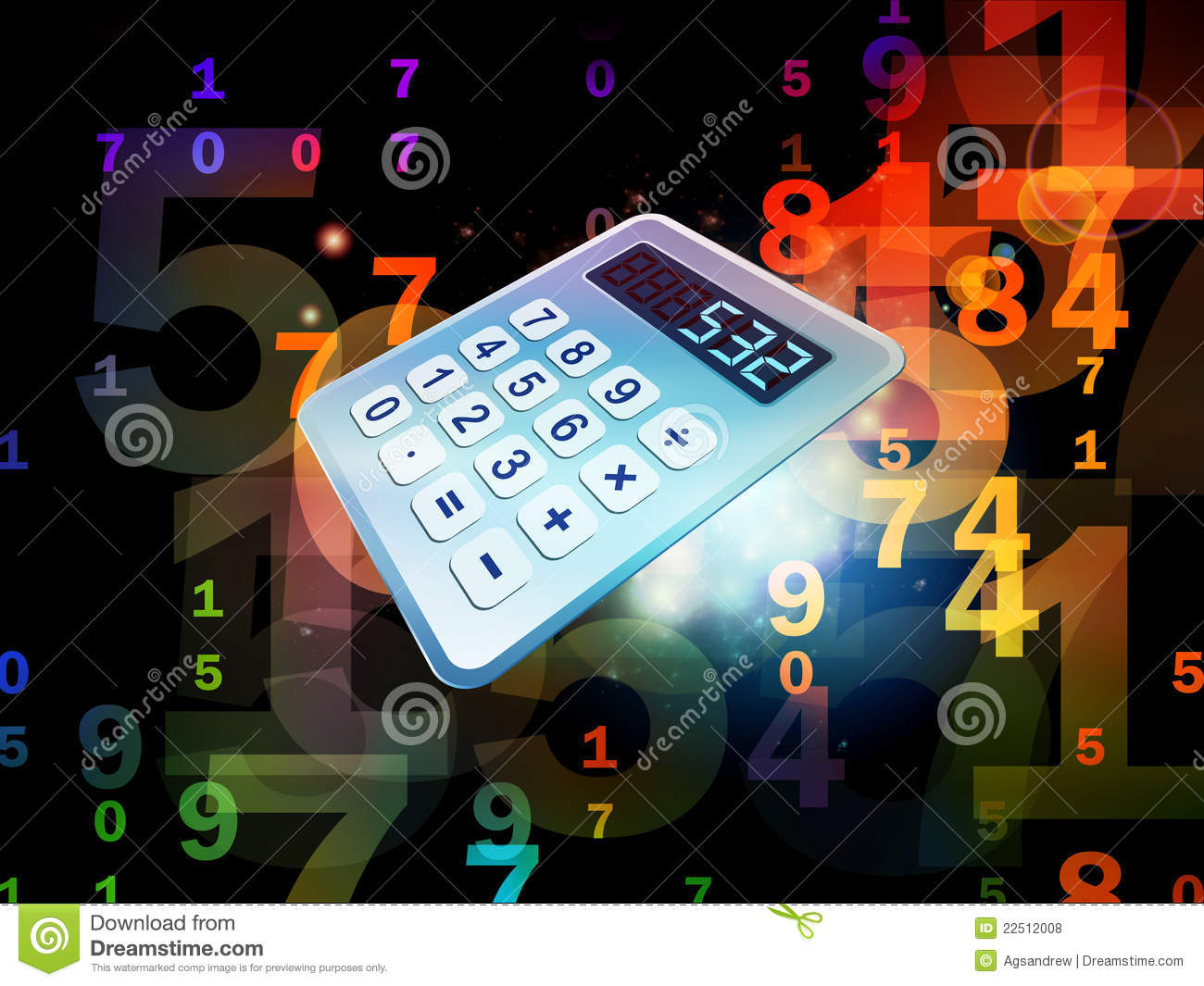 Calculator Perspective Royalty Free Stock Photos Image