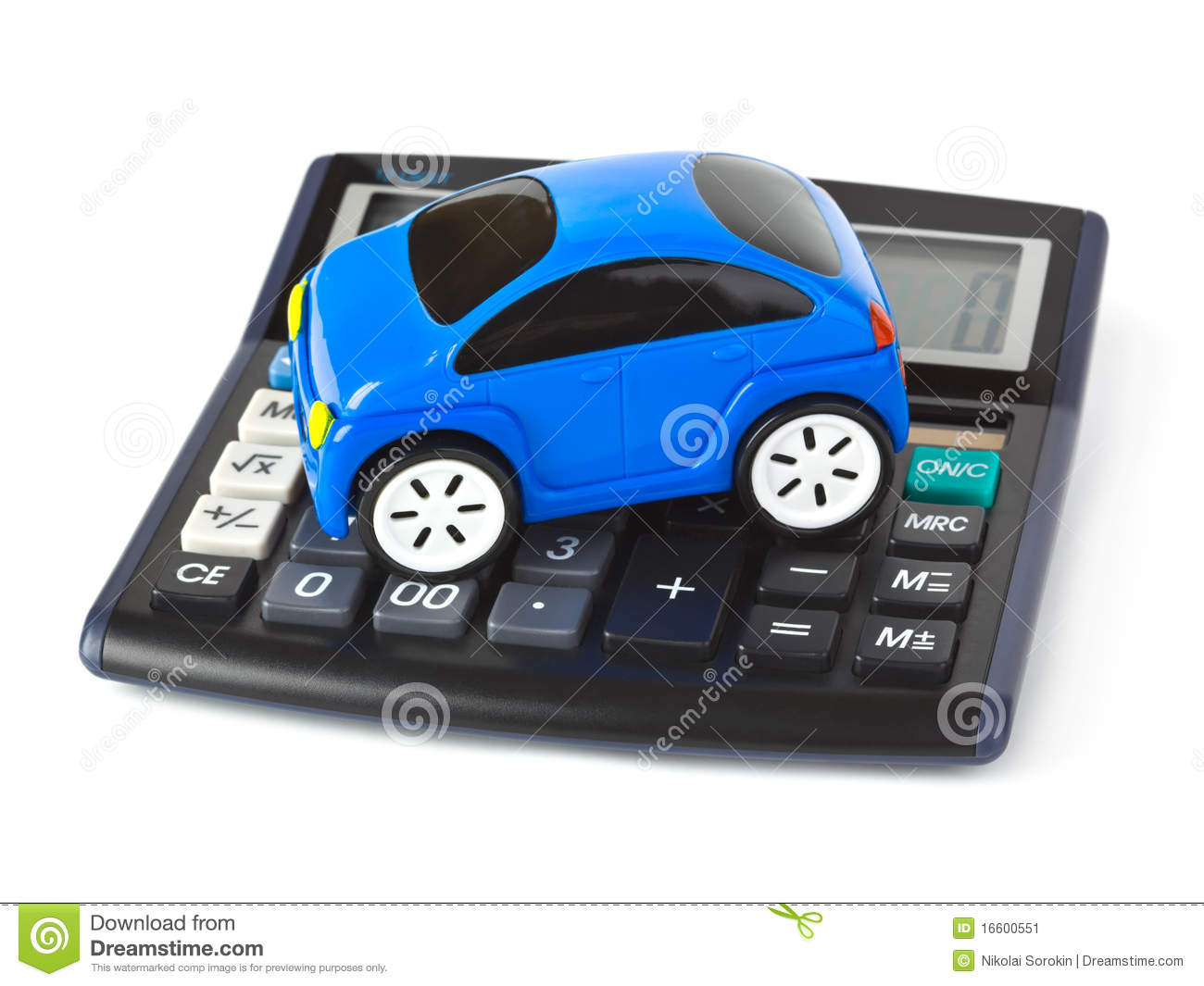 Calculator And Toy Car Stock Image Image Of Idea Fuel 16600551