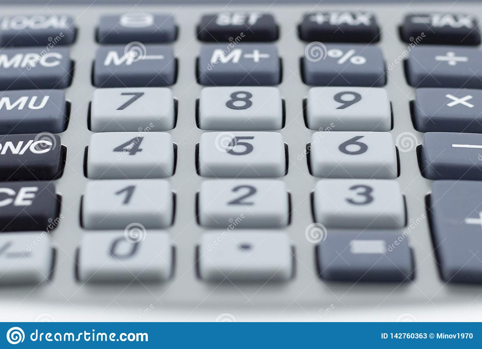 Calculator Verscheidene sleutels Macrodetail