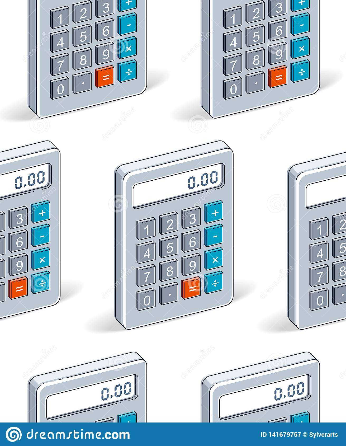 Calculators Seamless Background, Backdrop For Taxes Or ...