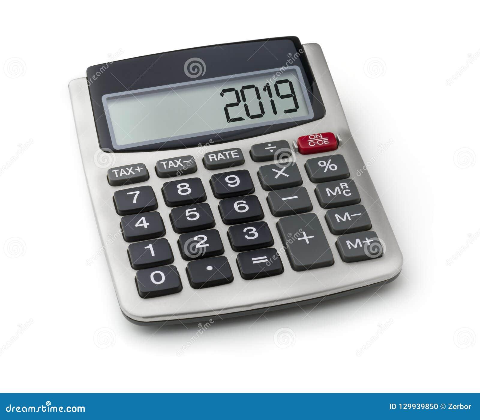 Calculatrice avec le mot 2019 sur l affichage
