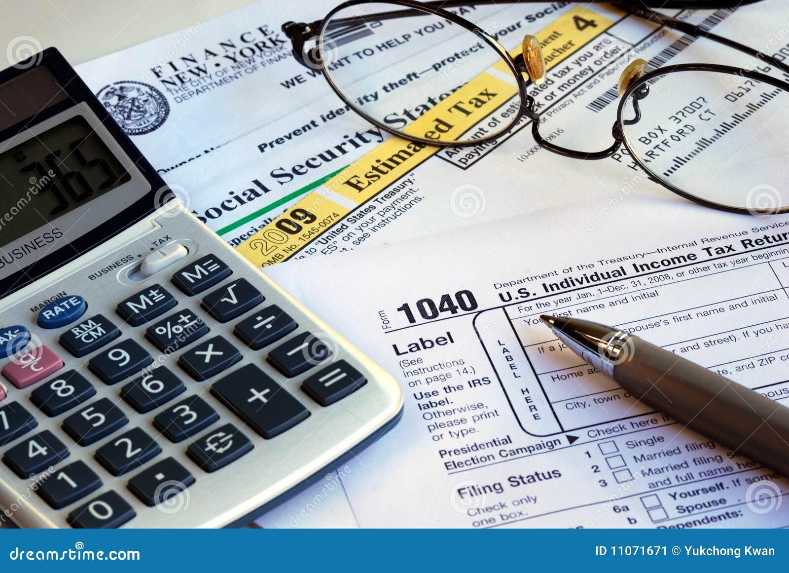 Calcule la declaración sobre la renta