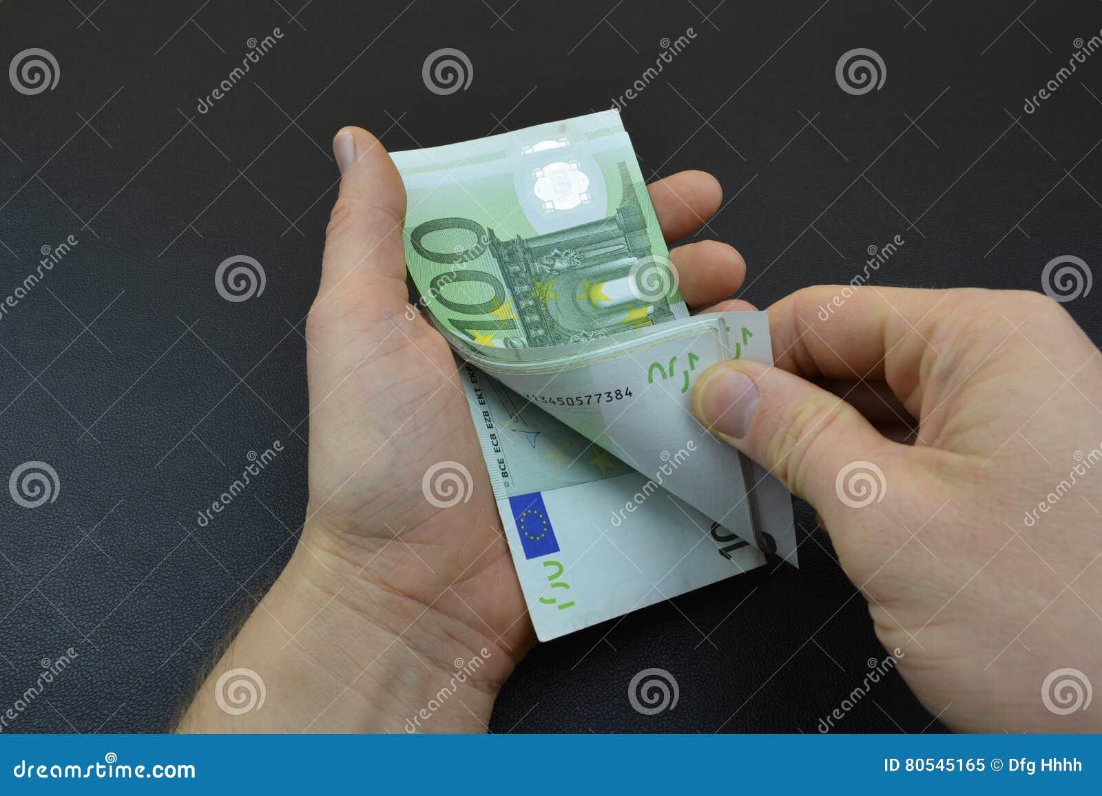 Calcule o euro com dedos