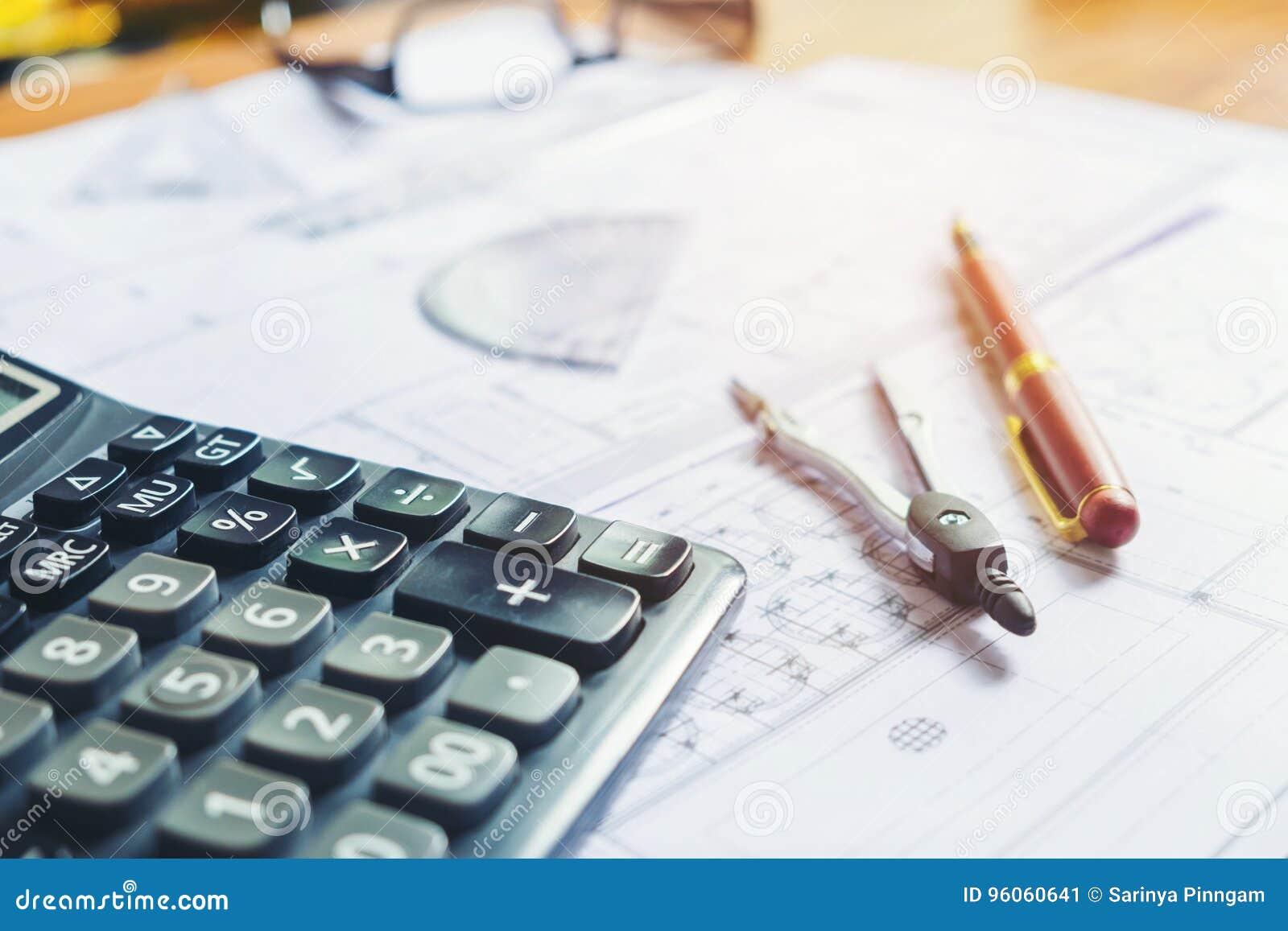 Calculez et blueprint à la maison le bureau