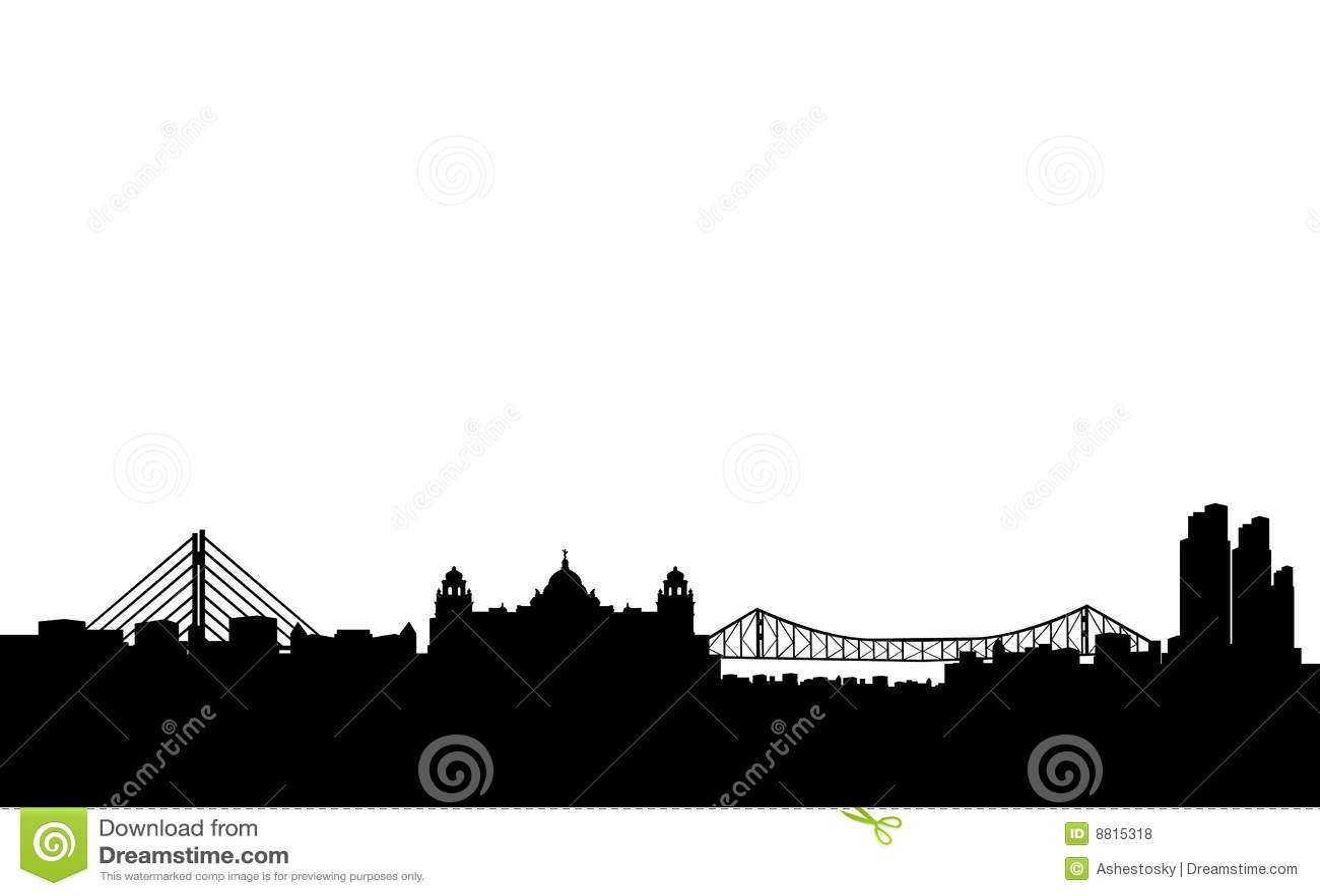 city silhouette clip art