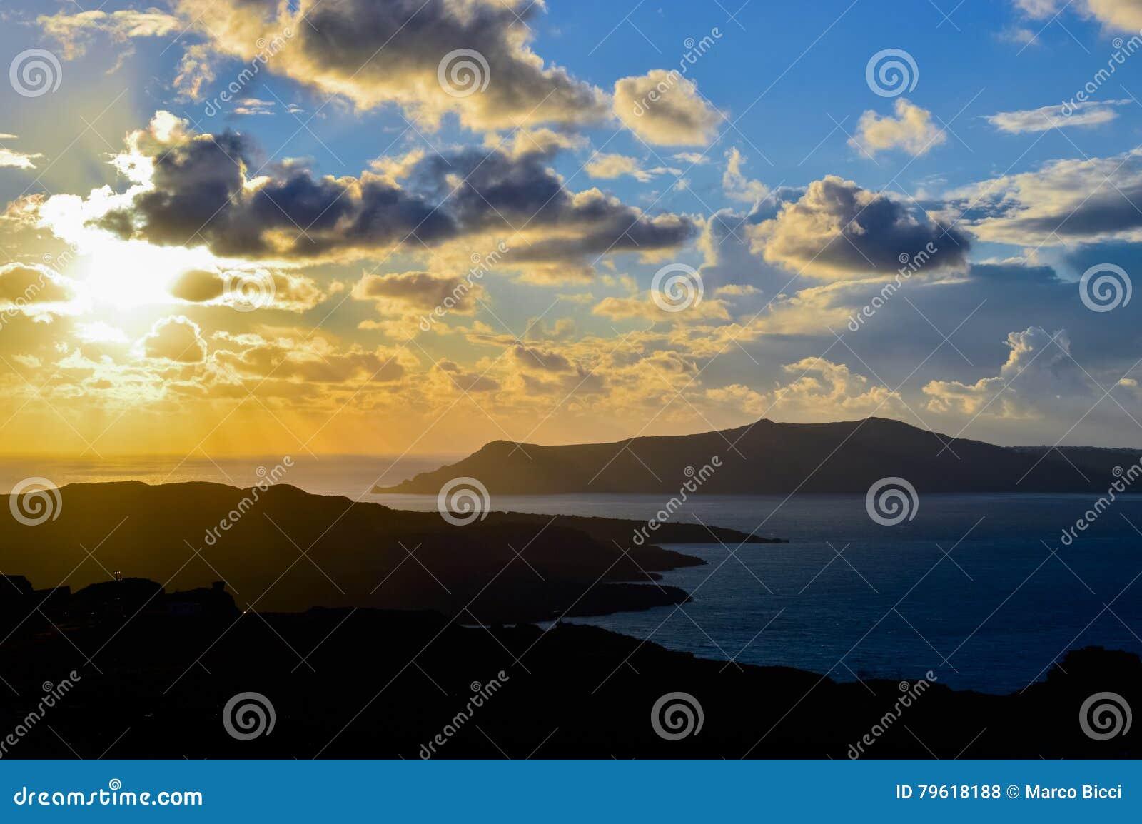 The Caldera of Santorini at