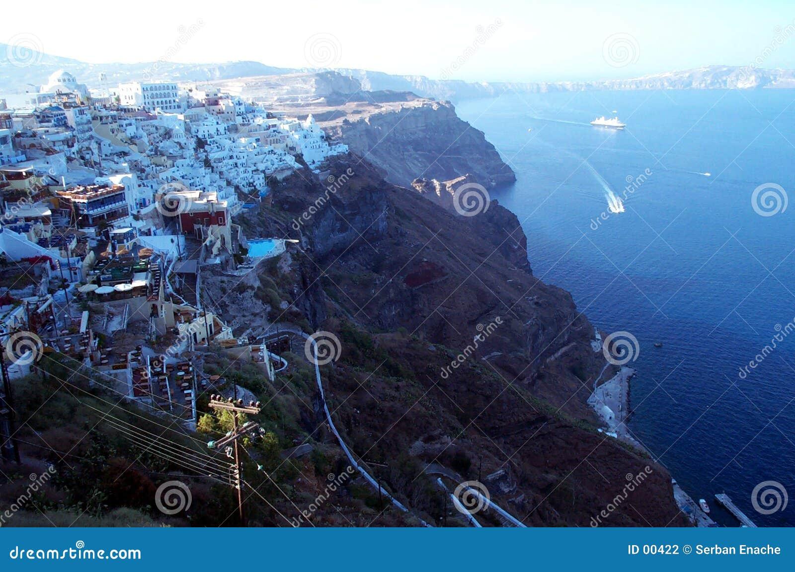 Caldera view - the cliff