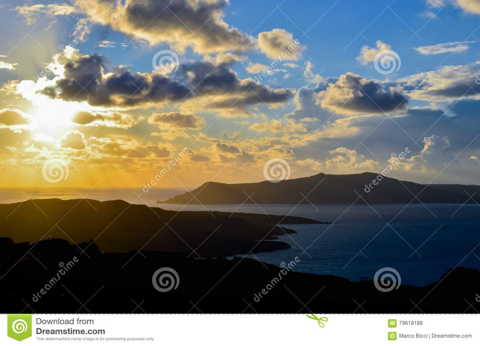 Calderaen av Santorini på