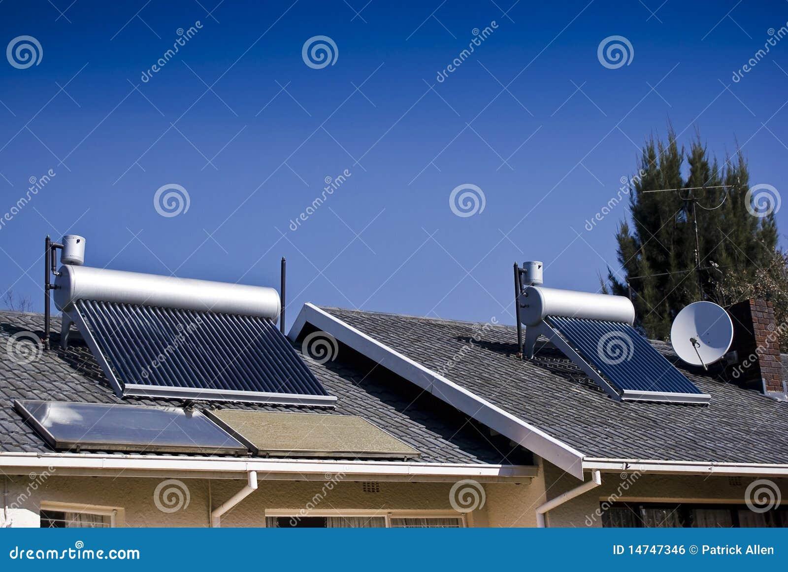 Calefator de água solar - câmaras de ar de vidro evacuadas