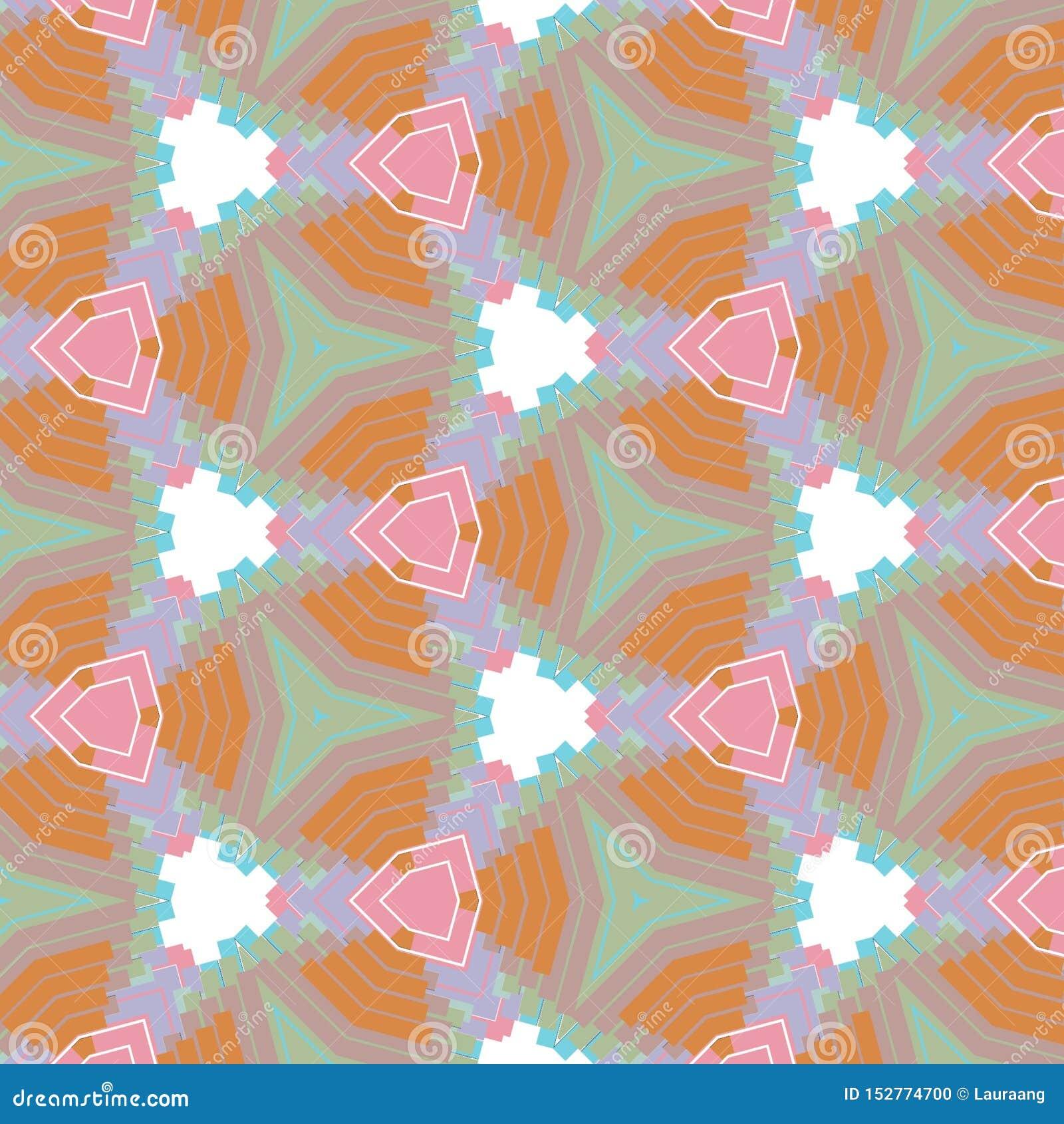 Caleidoscope-Grafikdesign-Farbhintergrund mit dem Rosa, violett, Orange, Blaulichtfarben