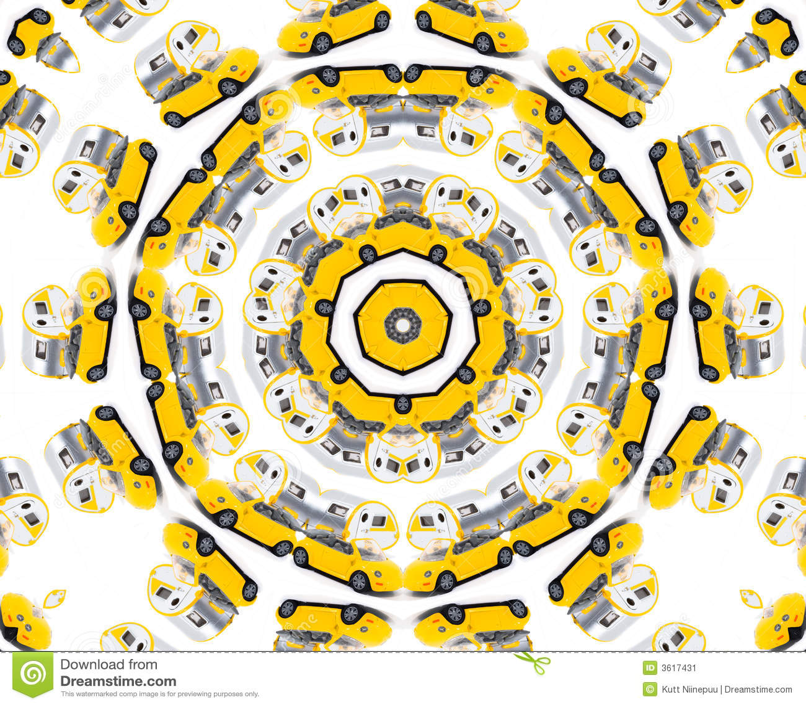 Caleidoscopio amarillo del coche del juguete