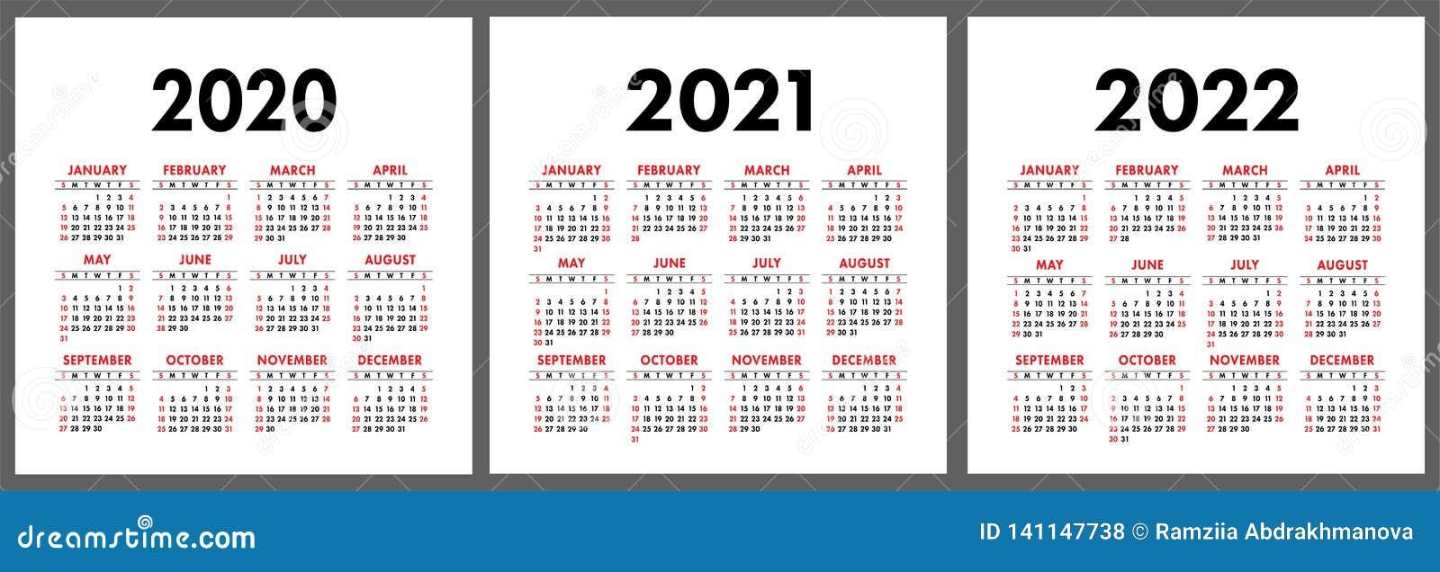 Calendario 2020 Semanas.Calendario 2020 2021 2022 Anos Molde Vertical Do Projeto