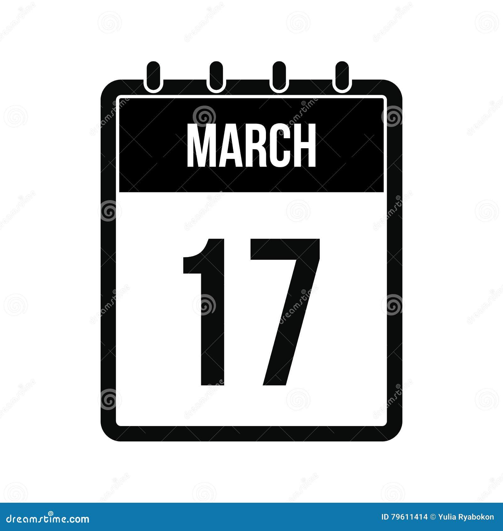 Calendário com ícone da data de dia do St Patricks