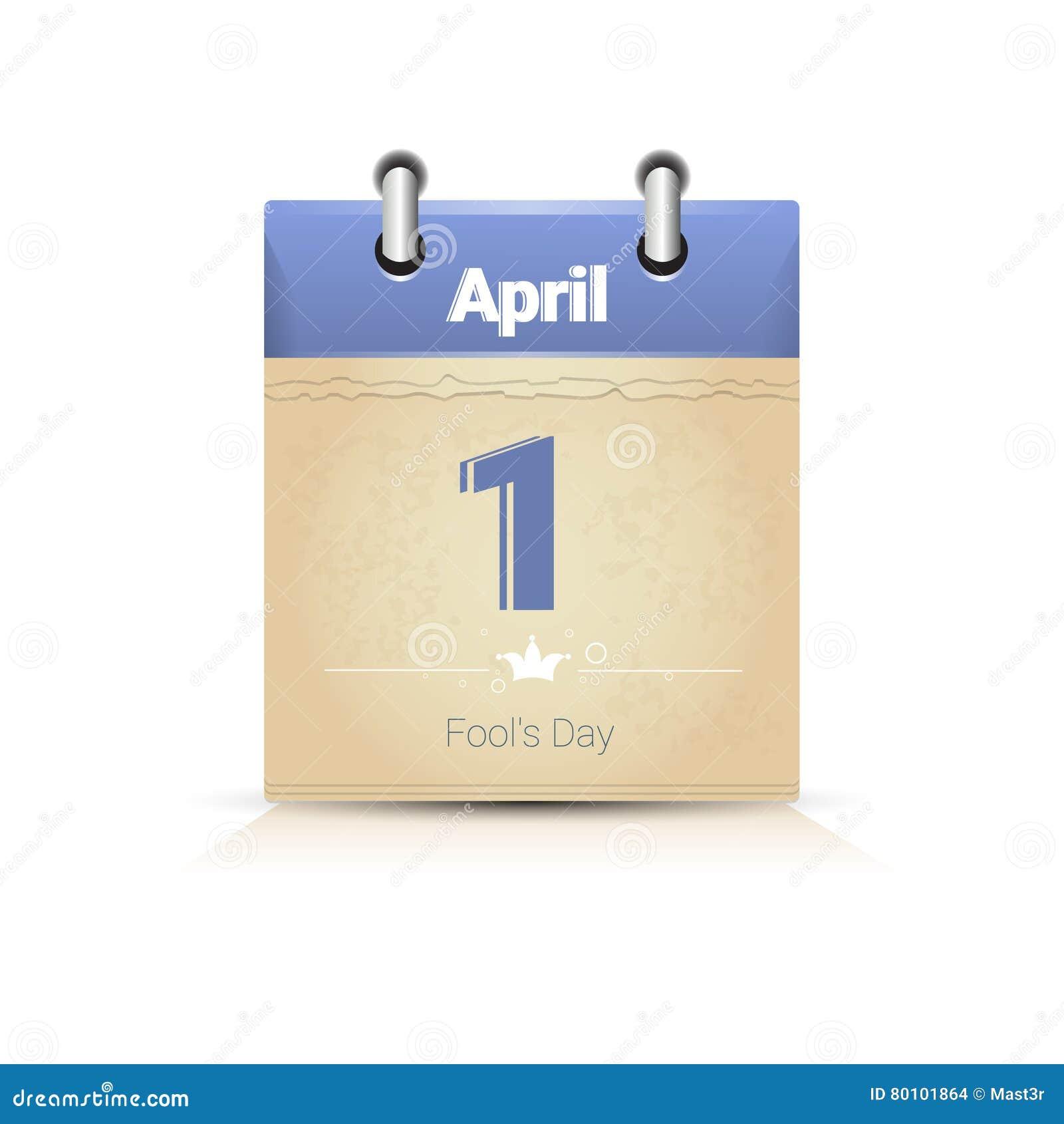 Calendário data página tolo dia o 1º de abril