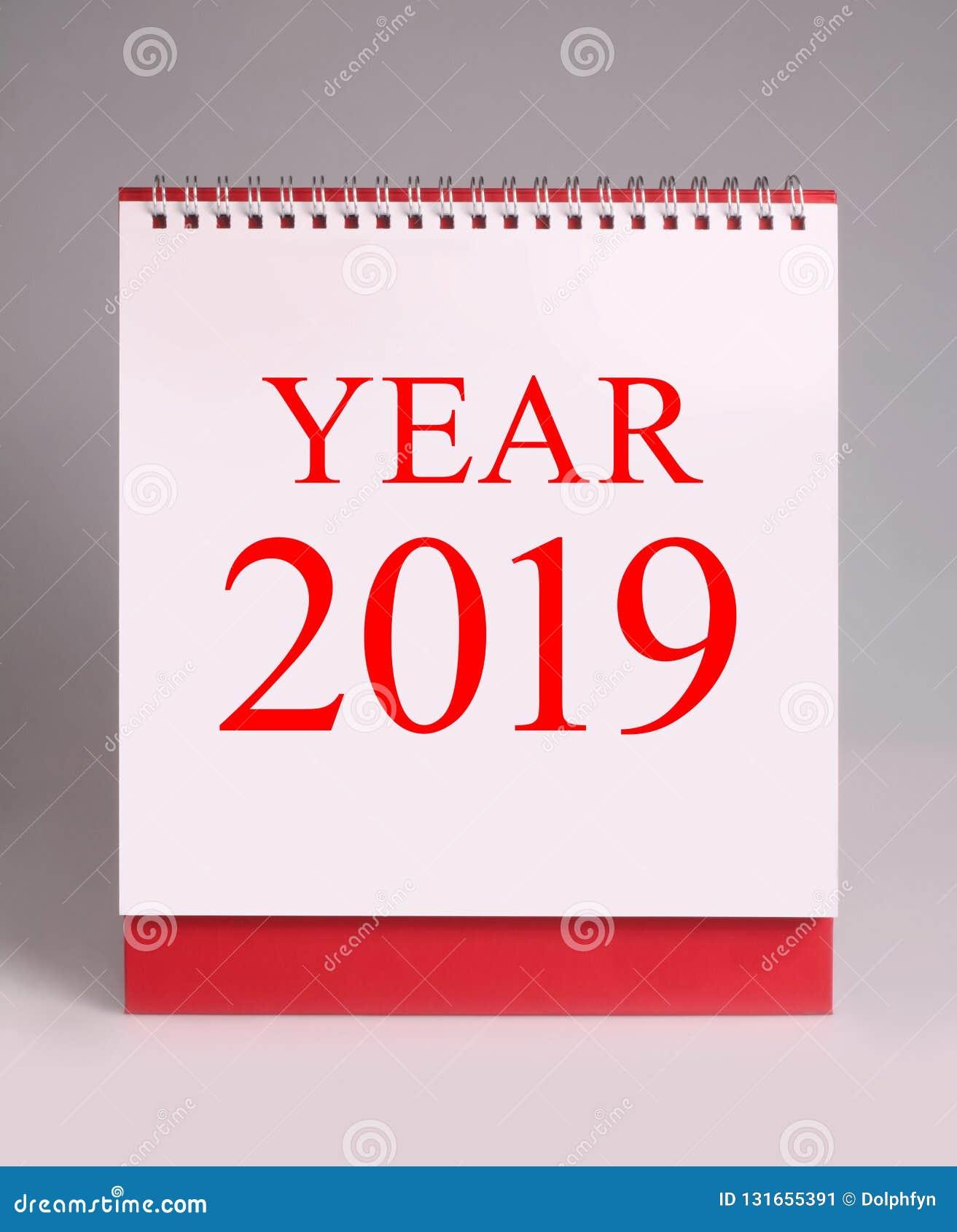 Calendario Gregoriano.Calendario De Mesa Simples Pelo Ano Novo 2019 O Ano Novo E O